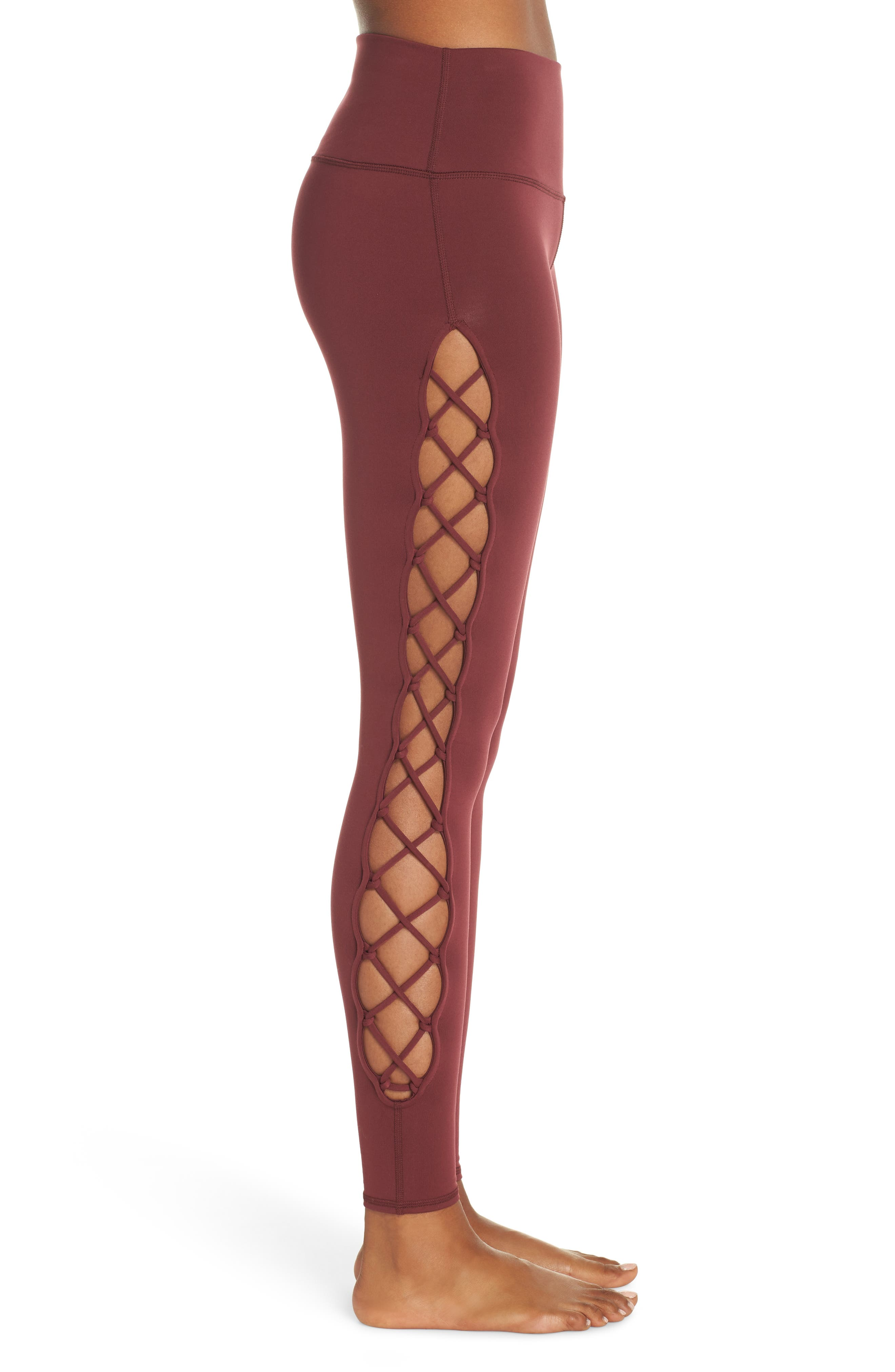 ALO, Interlace Leggings, Alternate thumbnail 4, color, 936