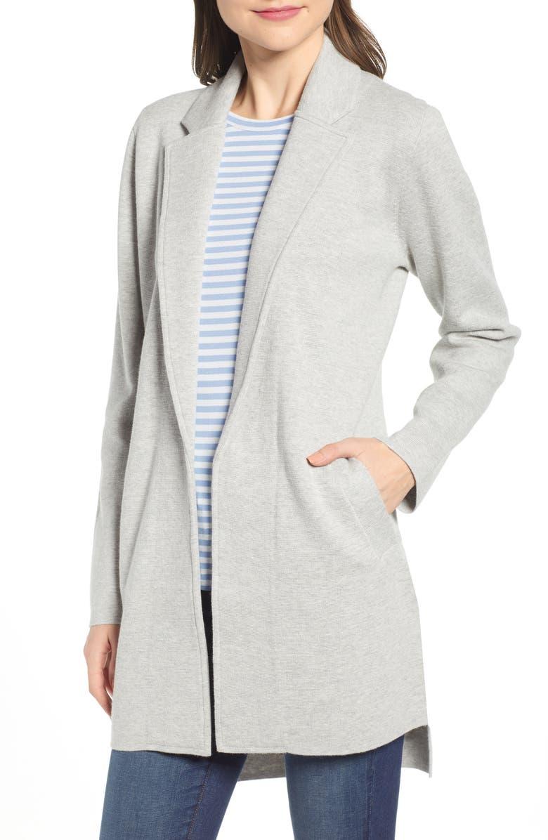 005cbd4c1ebe J.Crew Sophie Wrap Sweater Blazer In Heather Dove