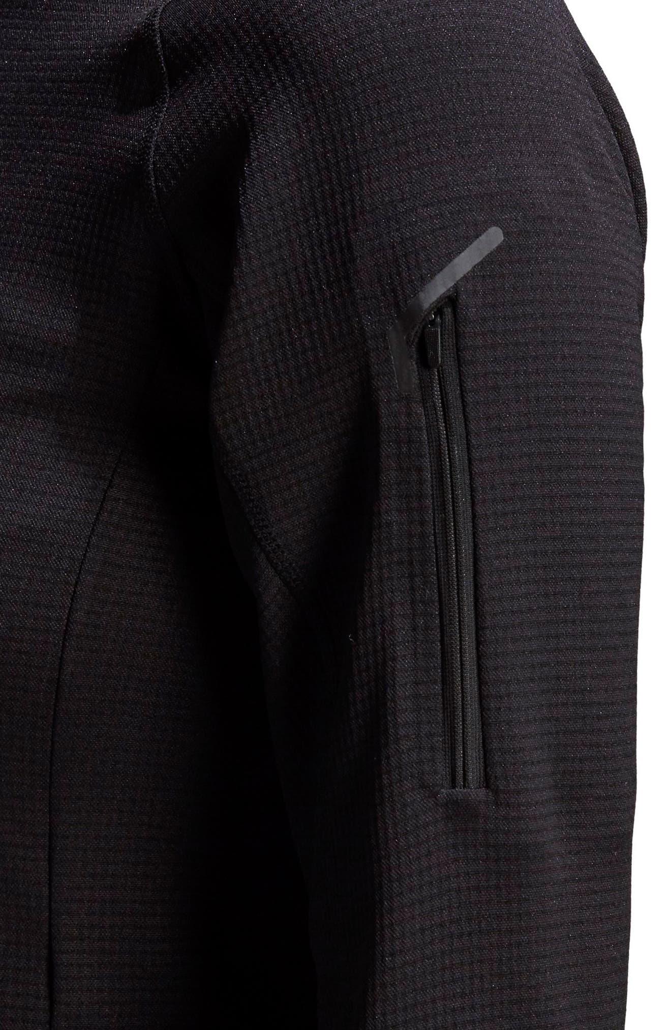 ADIDAS, Stockhorn Fleece Jacket, Alternate thumbnail 8, color, BLACK