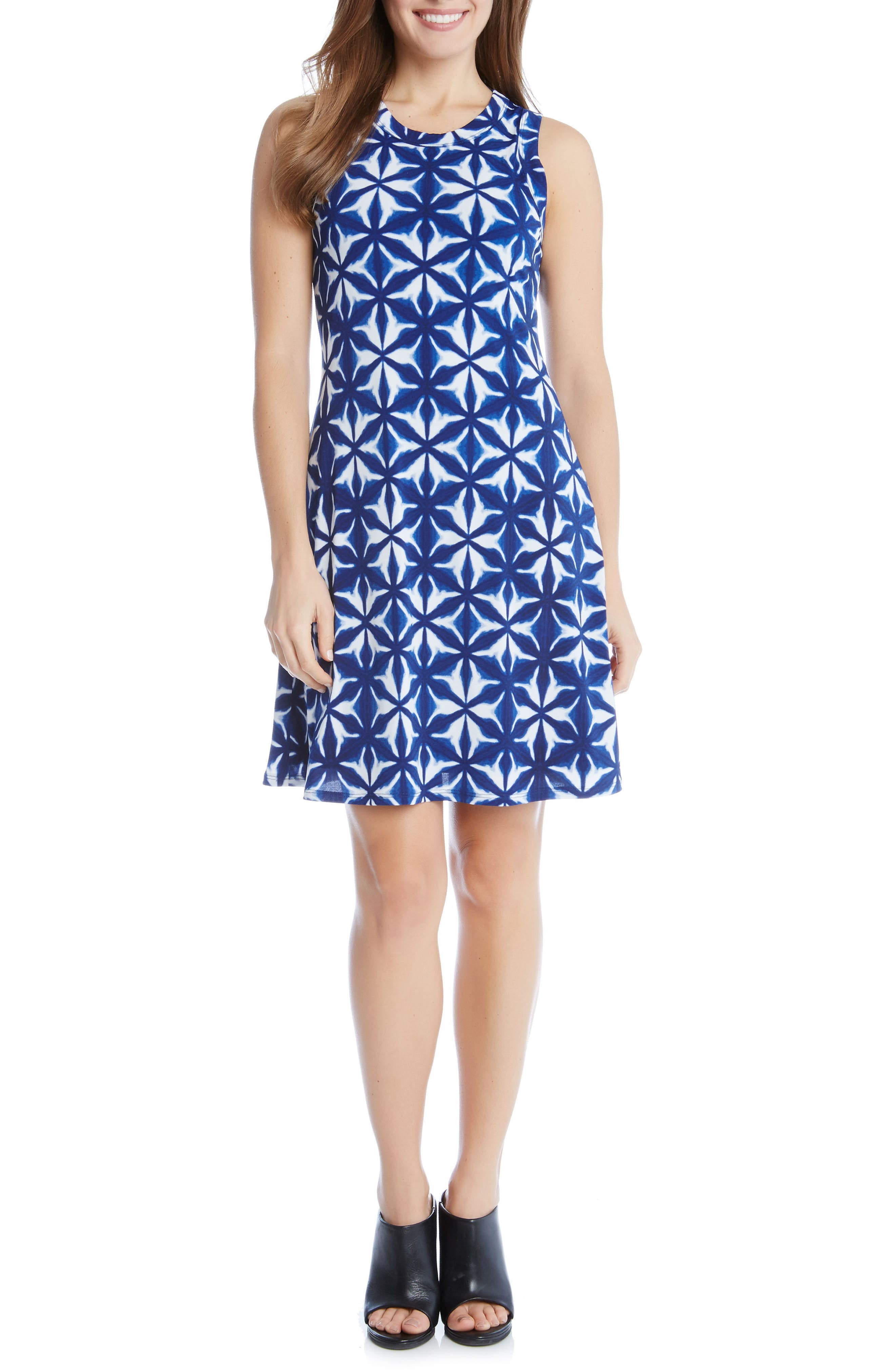KAREN KANE, Kaleidoscope Tie Dye A-Line Dress, Main thumbnail 1, color, 460