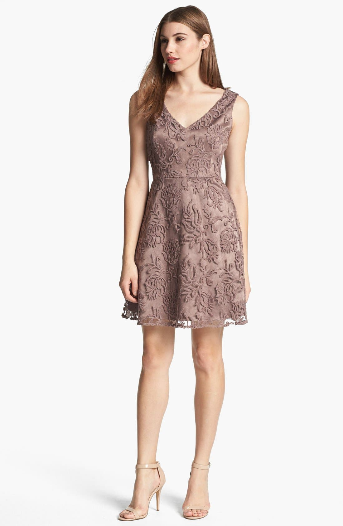 ADRIANNA PAPELL Soutache Dress, Main, color, 297