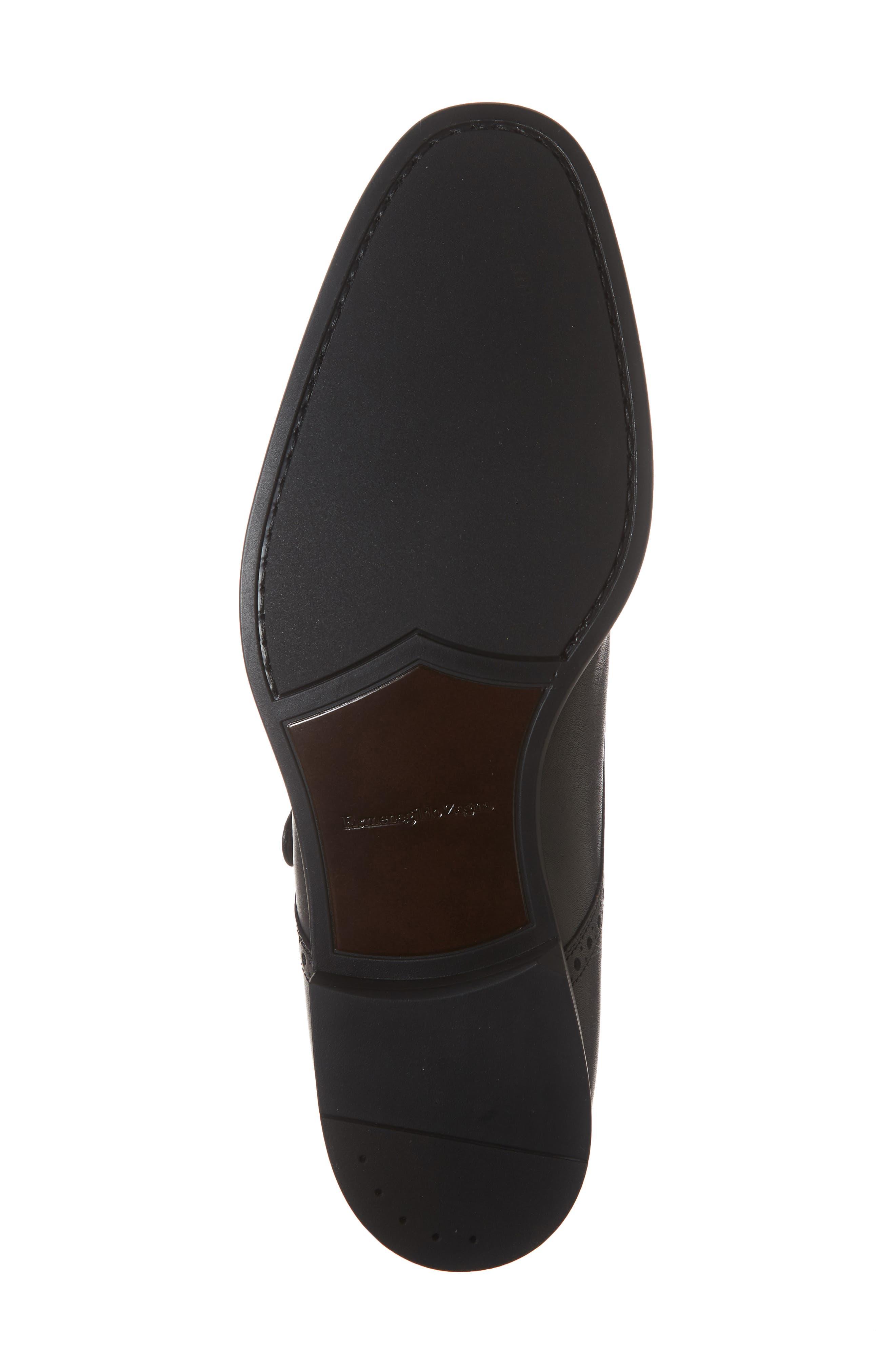 ERMENEGILDO ZEGNA, Single Strap Monk Shoe, Alternate thumbnail 6, color, BLACK