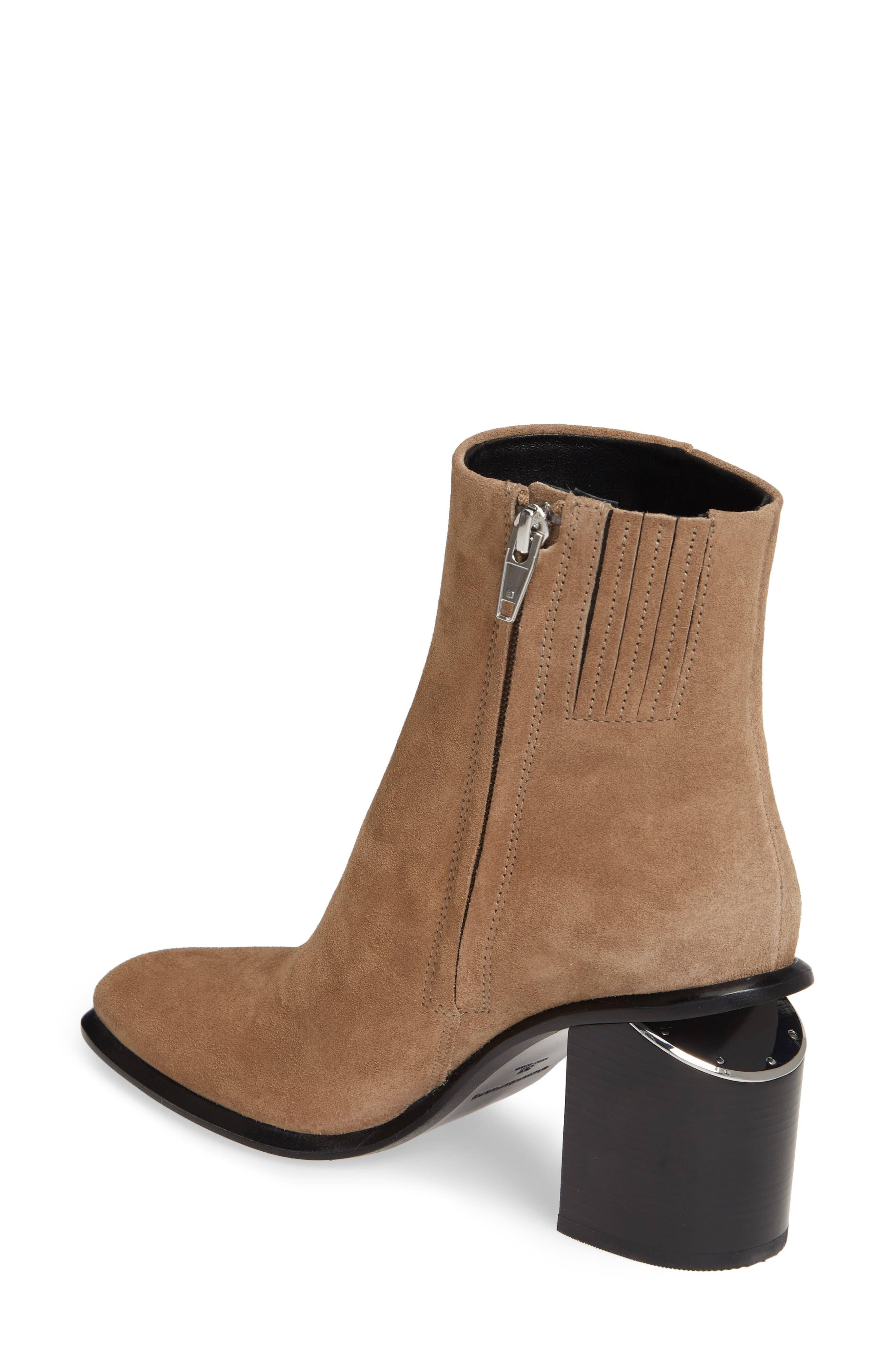 ALEXANDER WANG, Anna Mid Bootie, Alternate thumbnail 2, color, SAND SUEDE