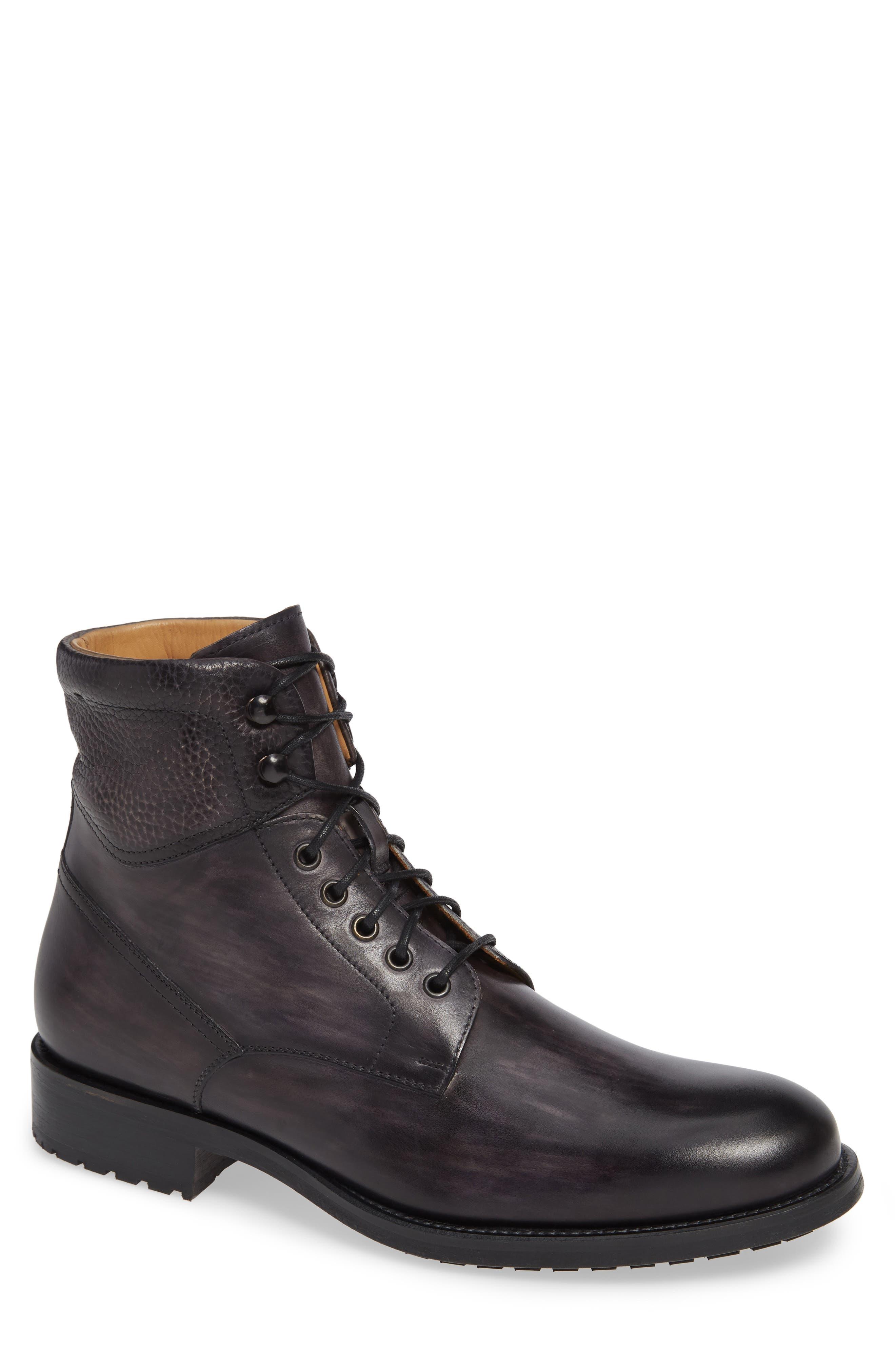 Magnanni Patton Plain Toe Boot, Grey
