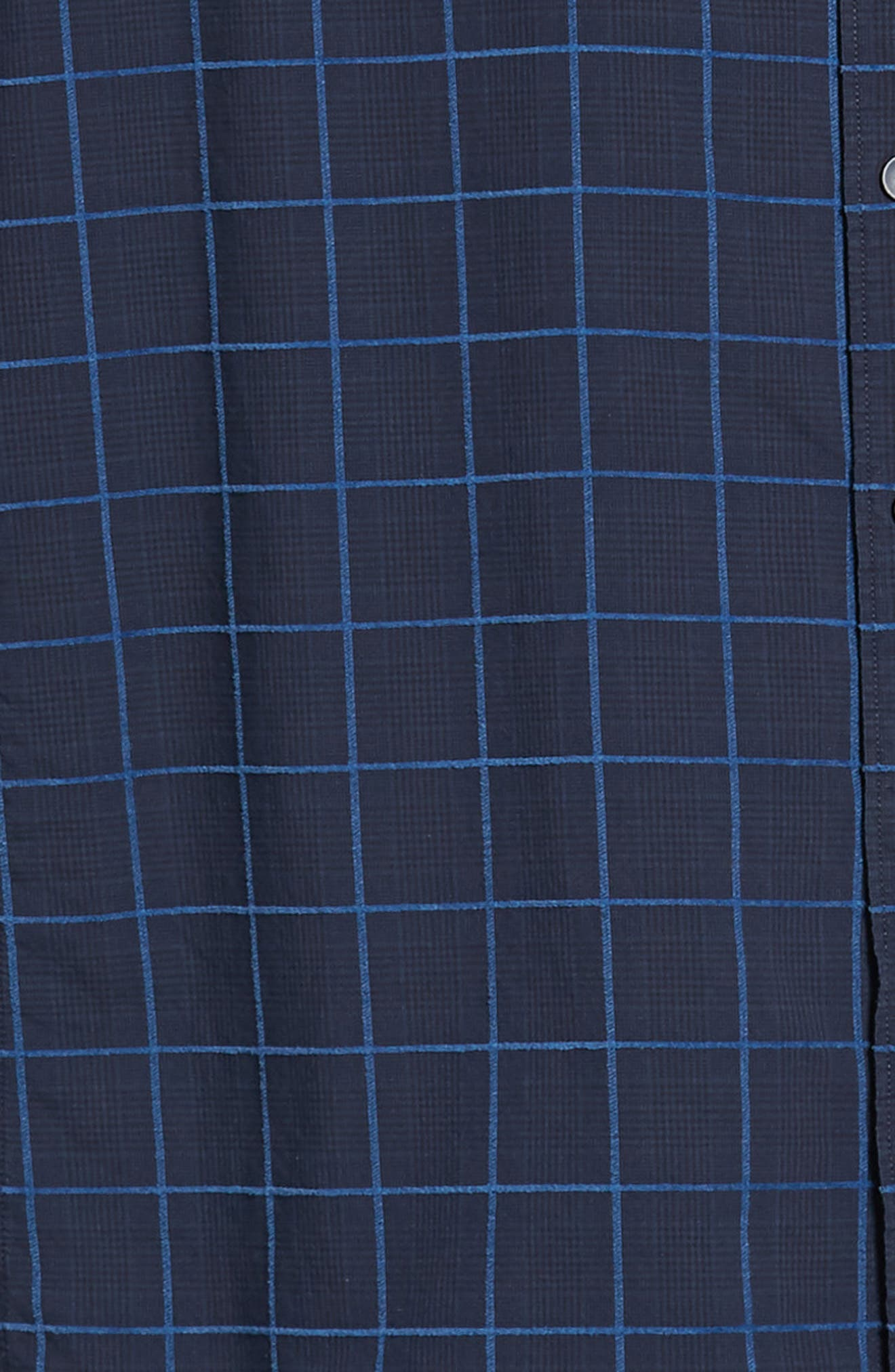RODD & GUNN, Hindley Creek Regular Fit Sport Shirt, Alternate thumbnail 6, color, NAVY