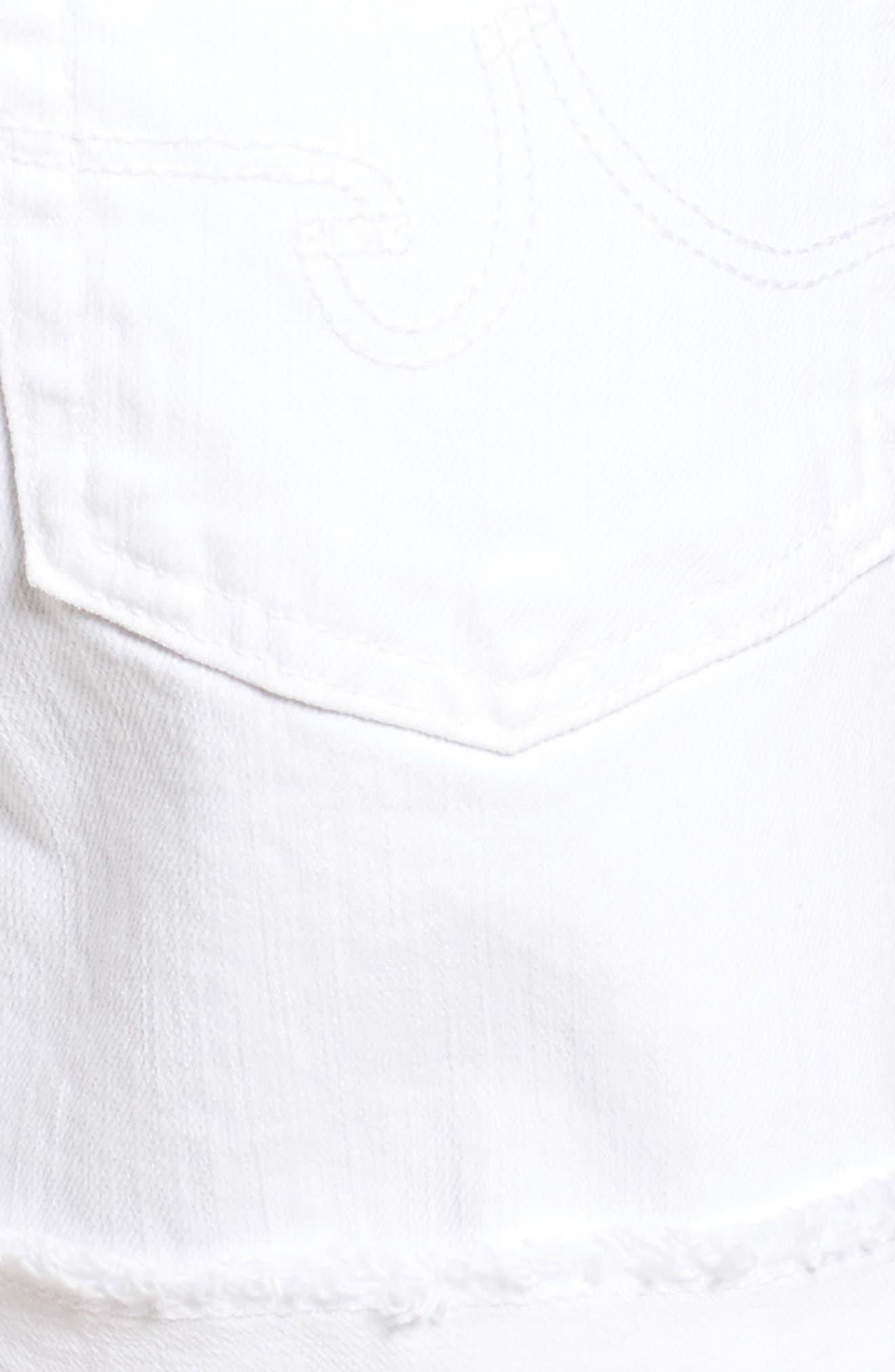 AG, 'Hailey' Boyfriend Shorts, Alternate thumbnail 6, color, WHITE