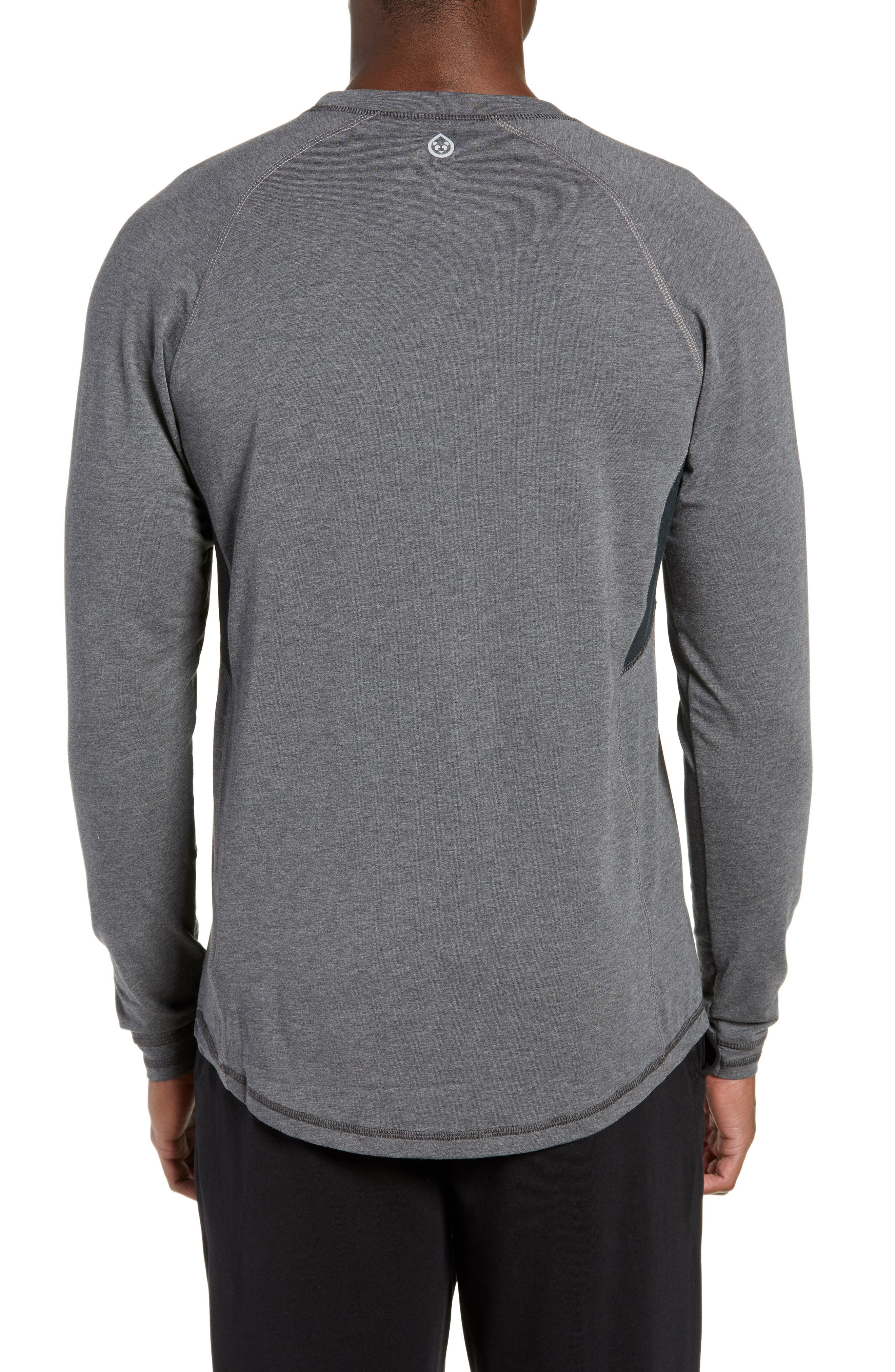 TASC PERFORMANCE, Charge II Long Sleeve Shirt, Alternate thumbnail 2, color, BLACK HEATHER