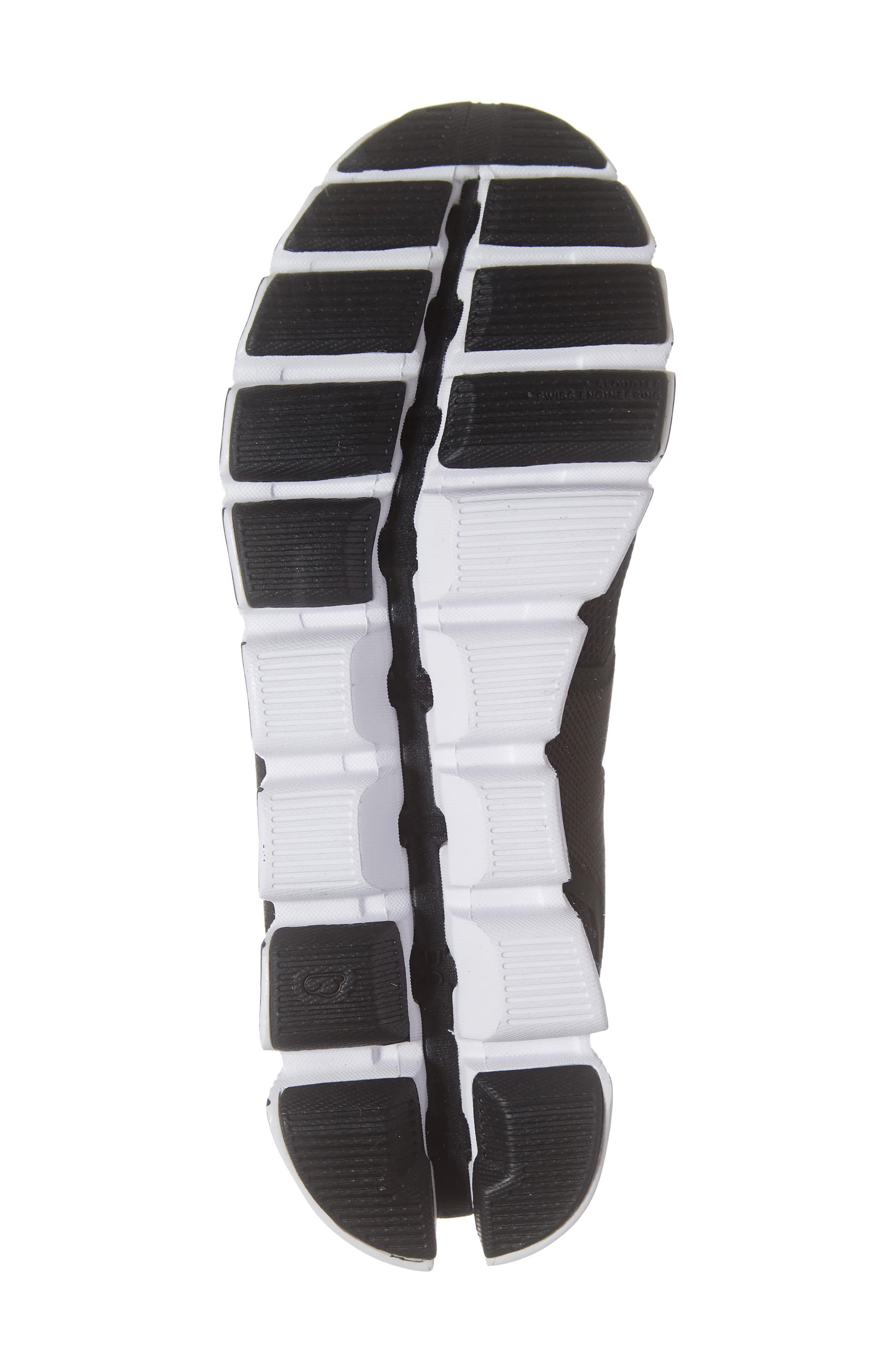 ON RUNNING, Cloud Running Shoe, Alternate thumbnail 6, color, BLACK/ WHITE