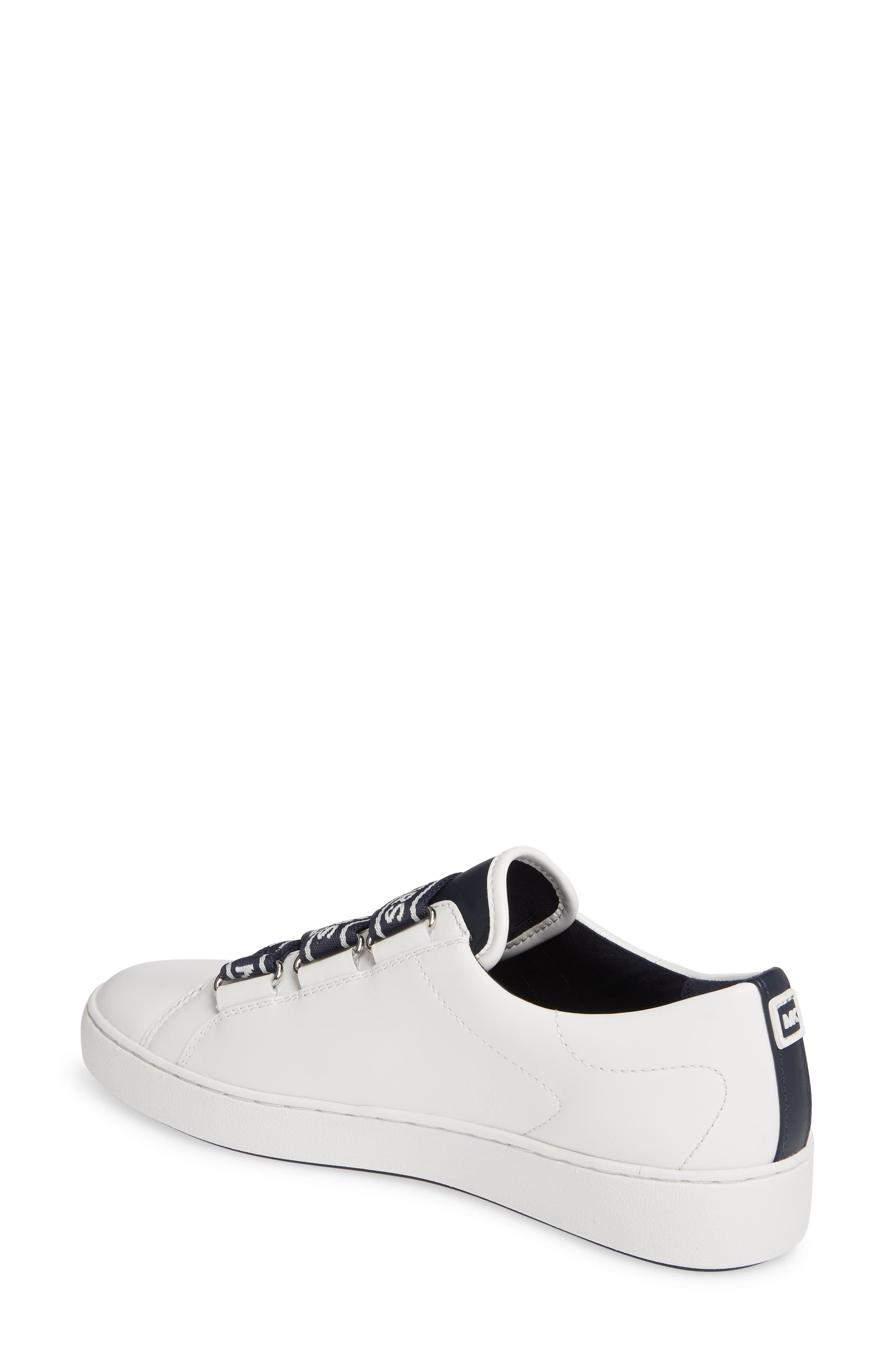 MICHAEL MICHAEL KORS, Casey Low Top Sneaker, Alternate thumbnail 2, color, ADMIRAL/ WHITE