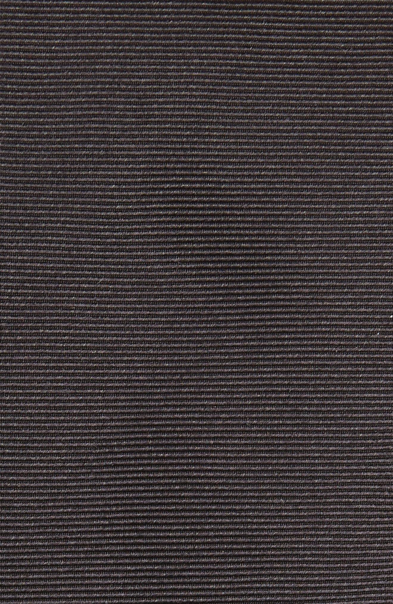 BURBERRY, Stanfield Silk Tie, Alternate thumbnail 2, color, BLACK