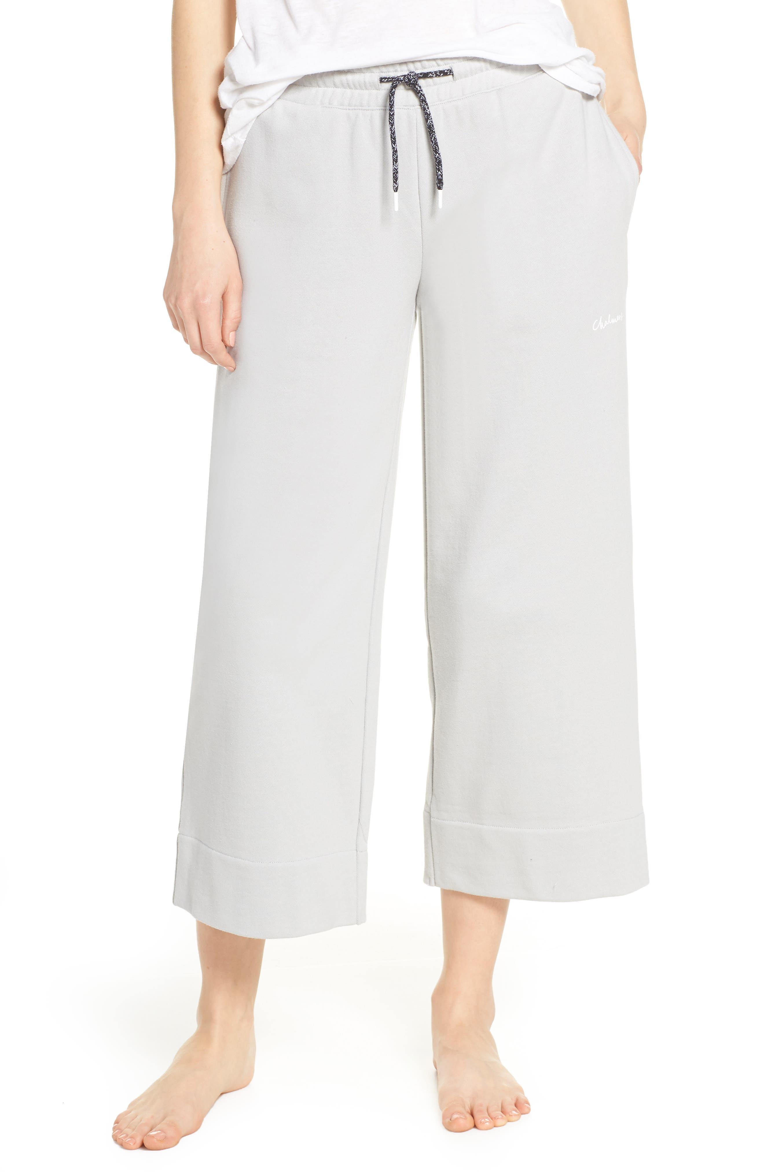 CHALMERS Vada Crop Sweatpants, Main, color, SMOKE TERRY