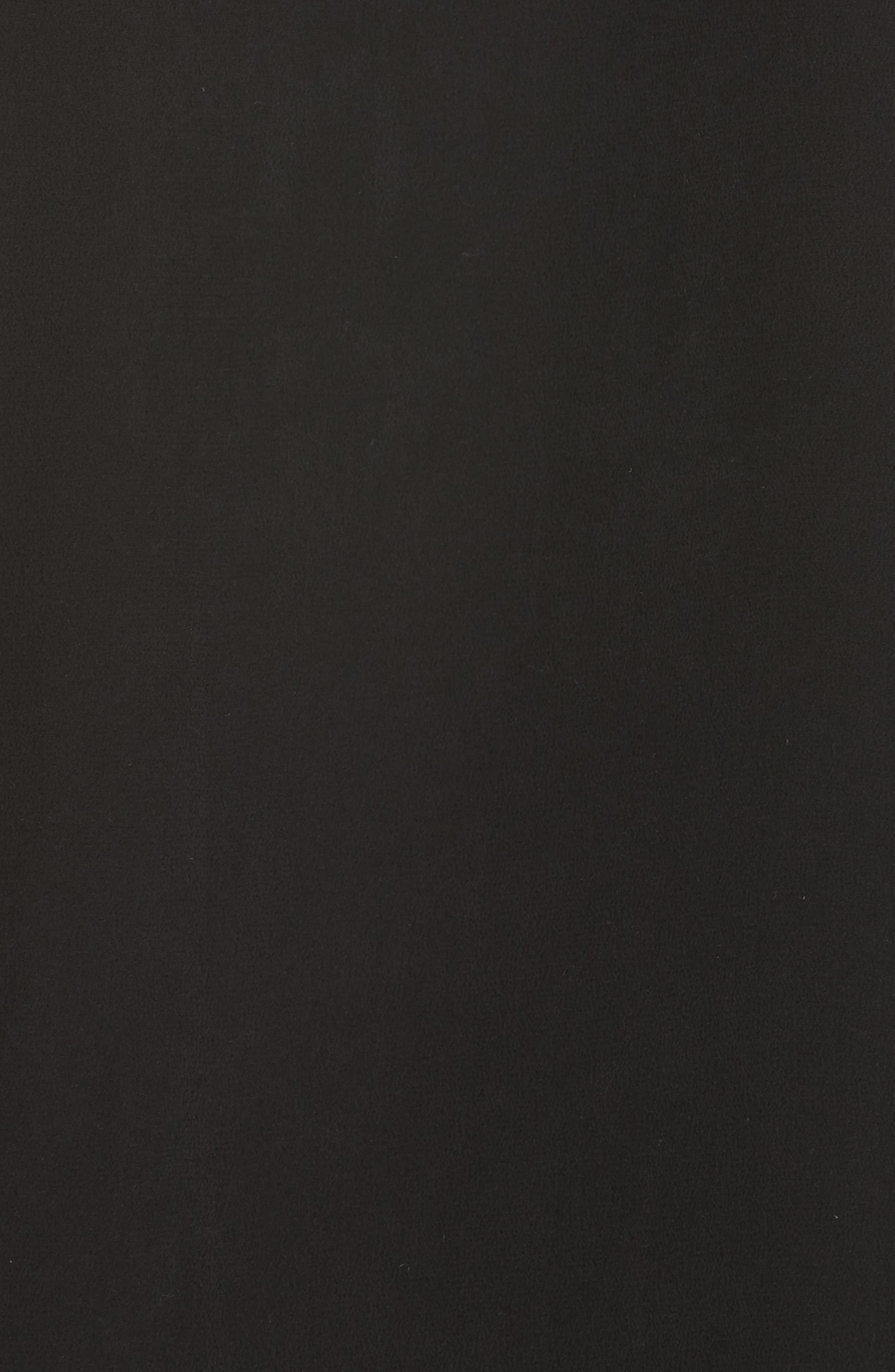 FRAME, Pocket Silk Blouse, Alternate thumbnail 5, color, BLACK