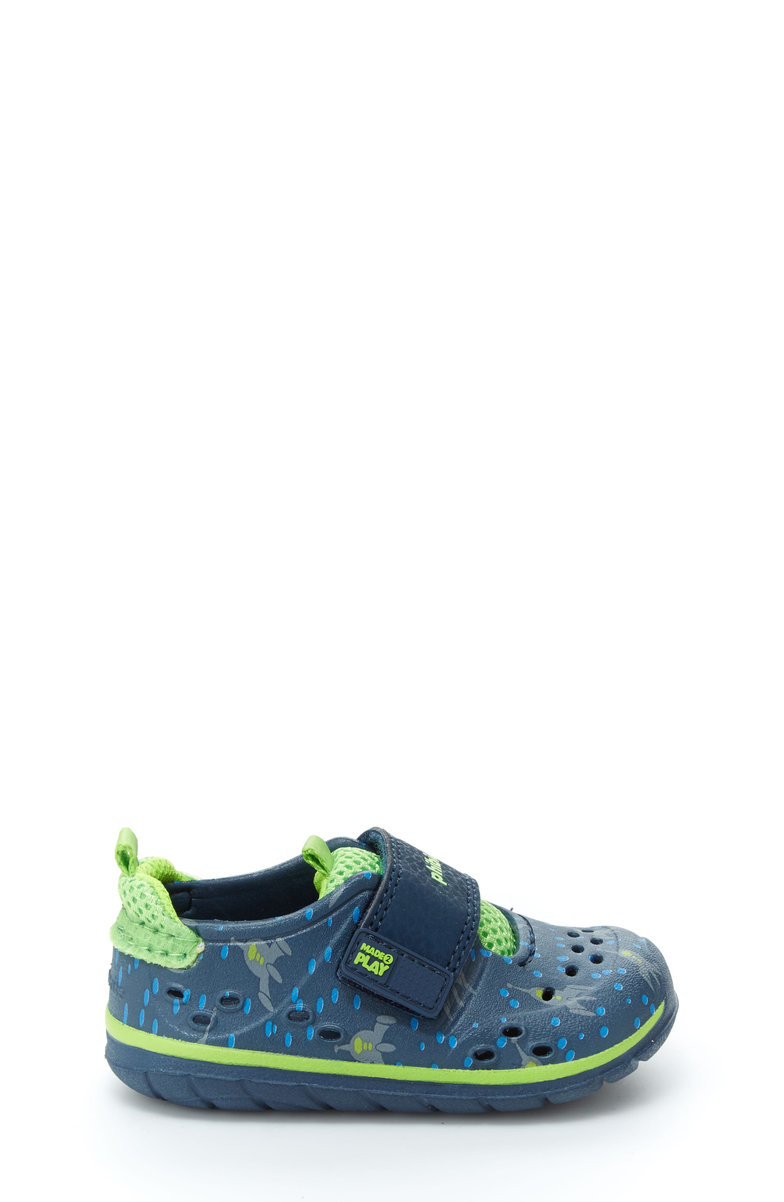STRIDE RITE, Made2Play<sup>®</sup> Phibian Sneaker, Alternate thumbnail 3, color, NAVY ROCKET SHIP