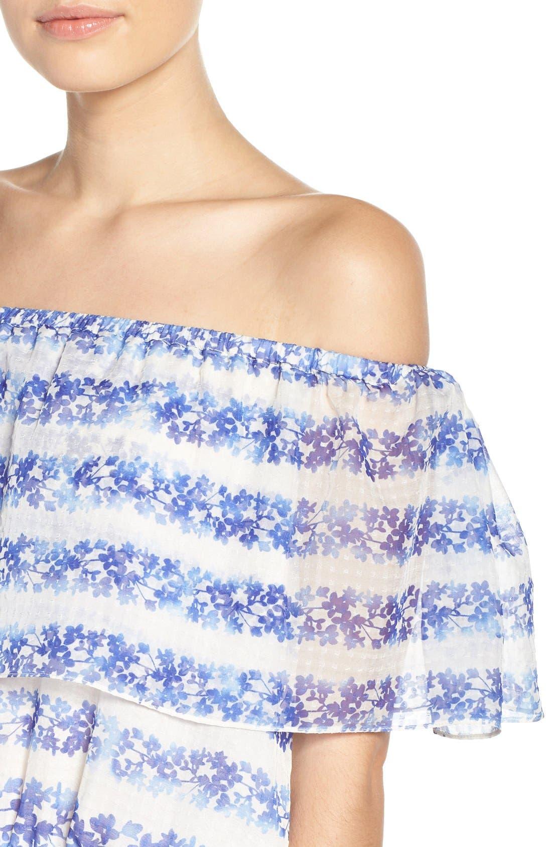 ELIZA J, Blouson Maxi Dress, Alternate thumbnail 7, color, 442