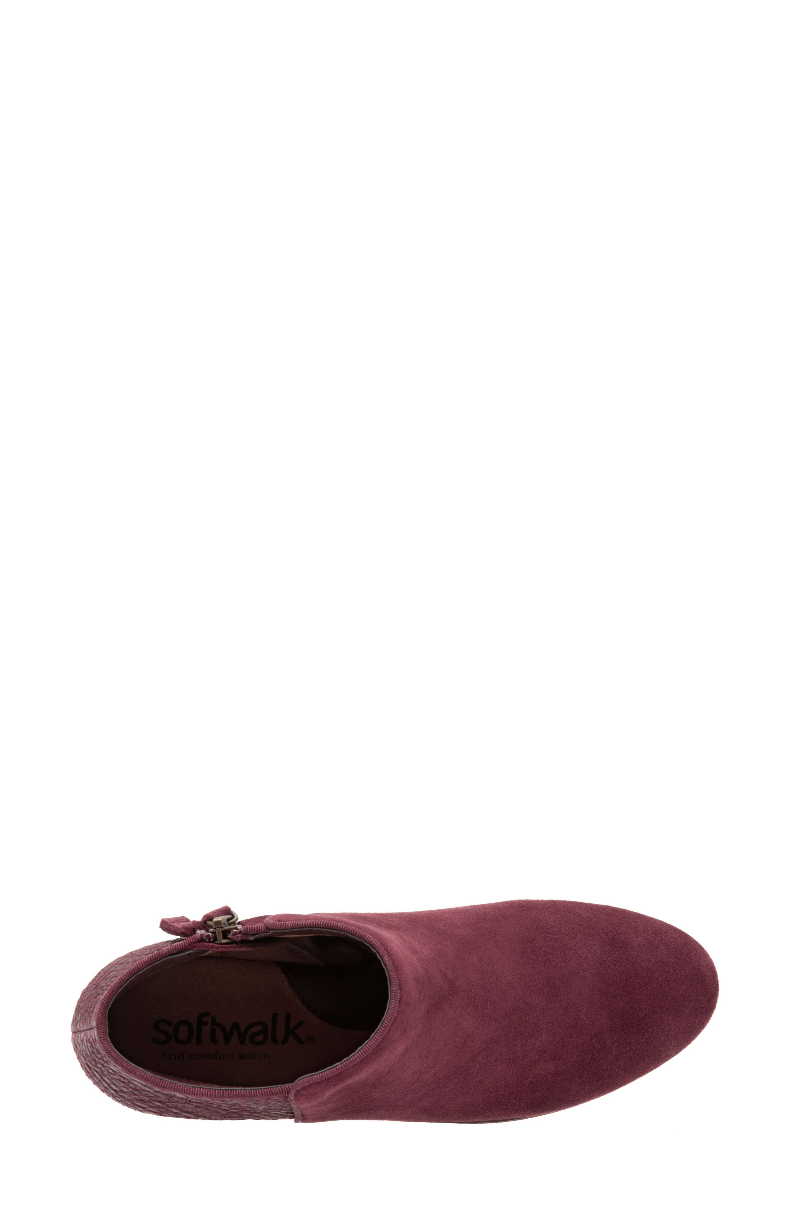SOFTWALK<SUP>®</SUP>, 'Rocklin' Bootie, Alternate thumbnail 4, color, BURGUNDY LEATHER