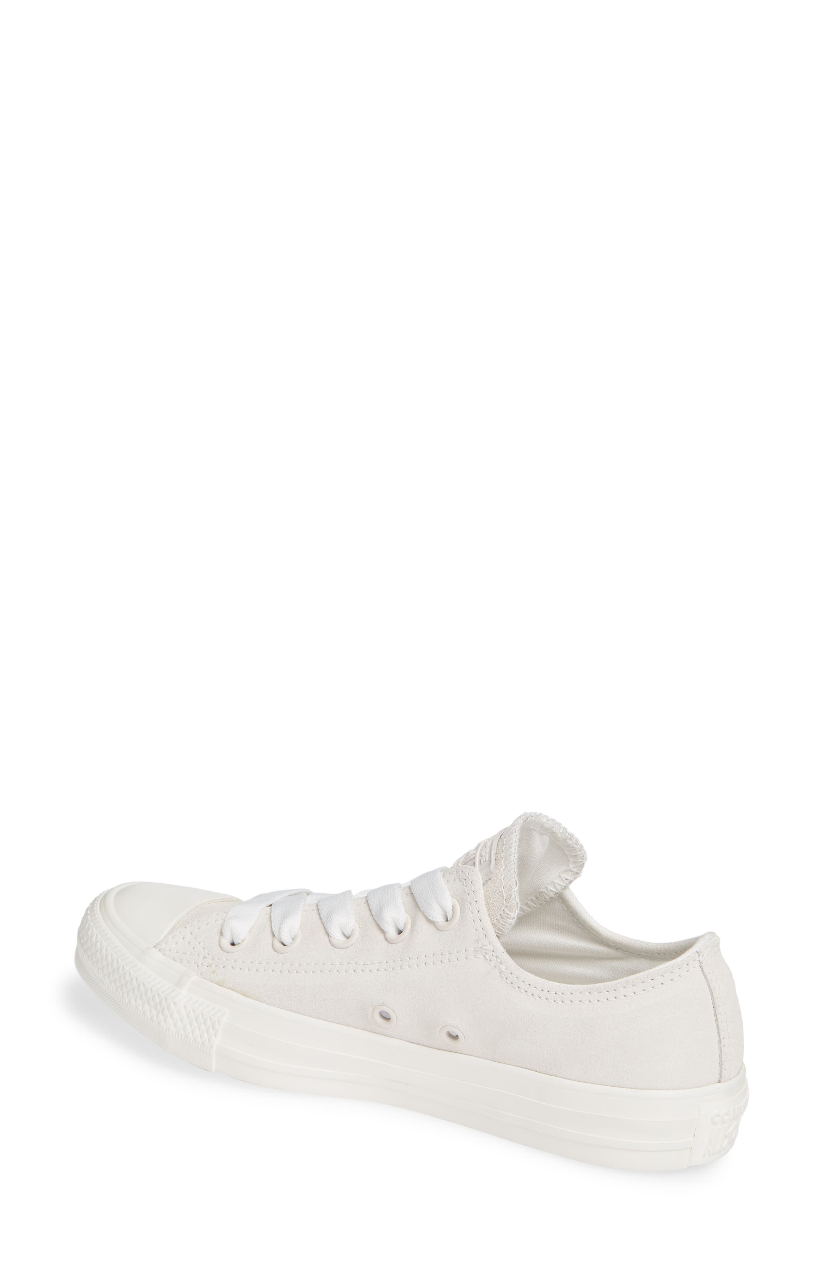 CONVERSE, Chuck Taylor<sup>®</sup> All Star<sup>®</sup> Ox Sneaker, Alternate thumbnail 2, color, VINTAGE WHITE SUEDE