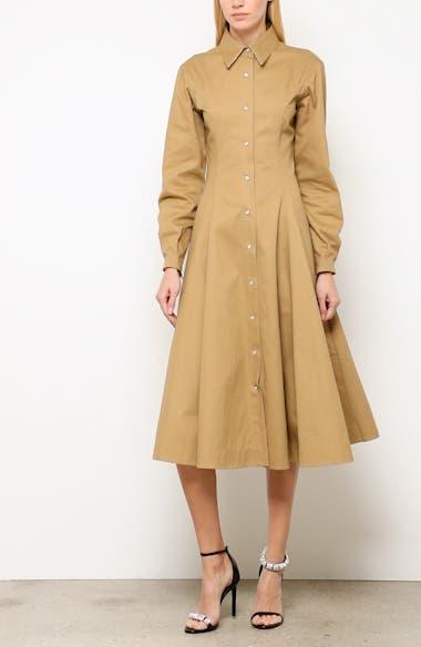 Western Twill A-Line Midi Dress, video thumbnail