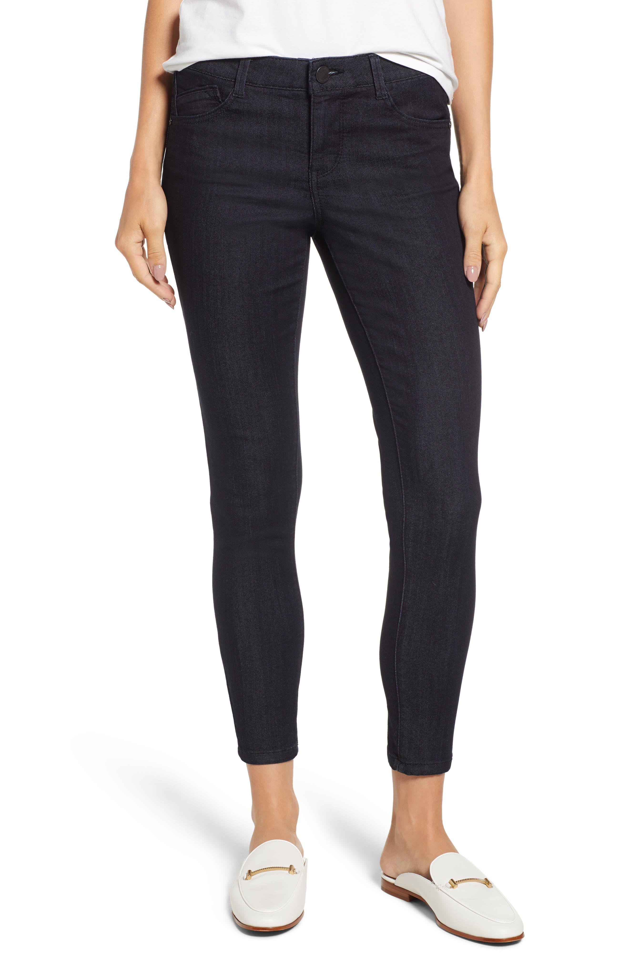 WIT & WISDOM Ab-solution Ankle Skinny Jeans, Main, color, INDIGO
