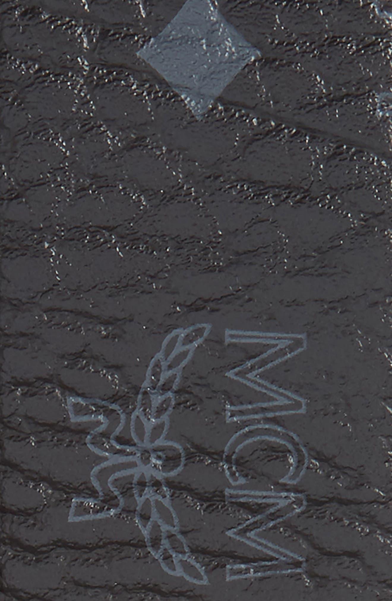 MCM, Reversible Signature Leather Belt, Alternate thumbnail 2, color, BLACK