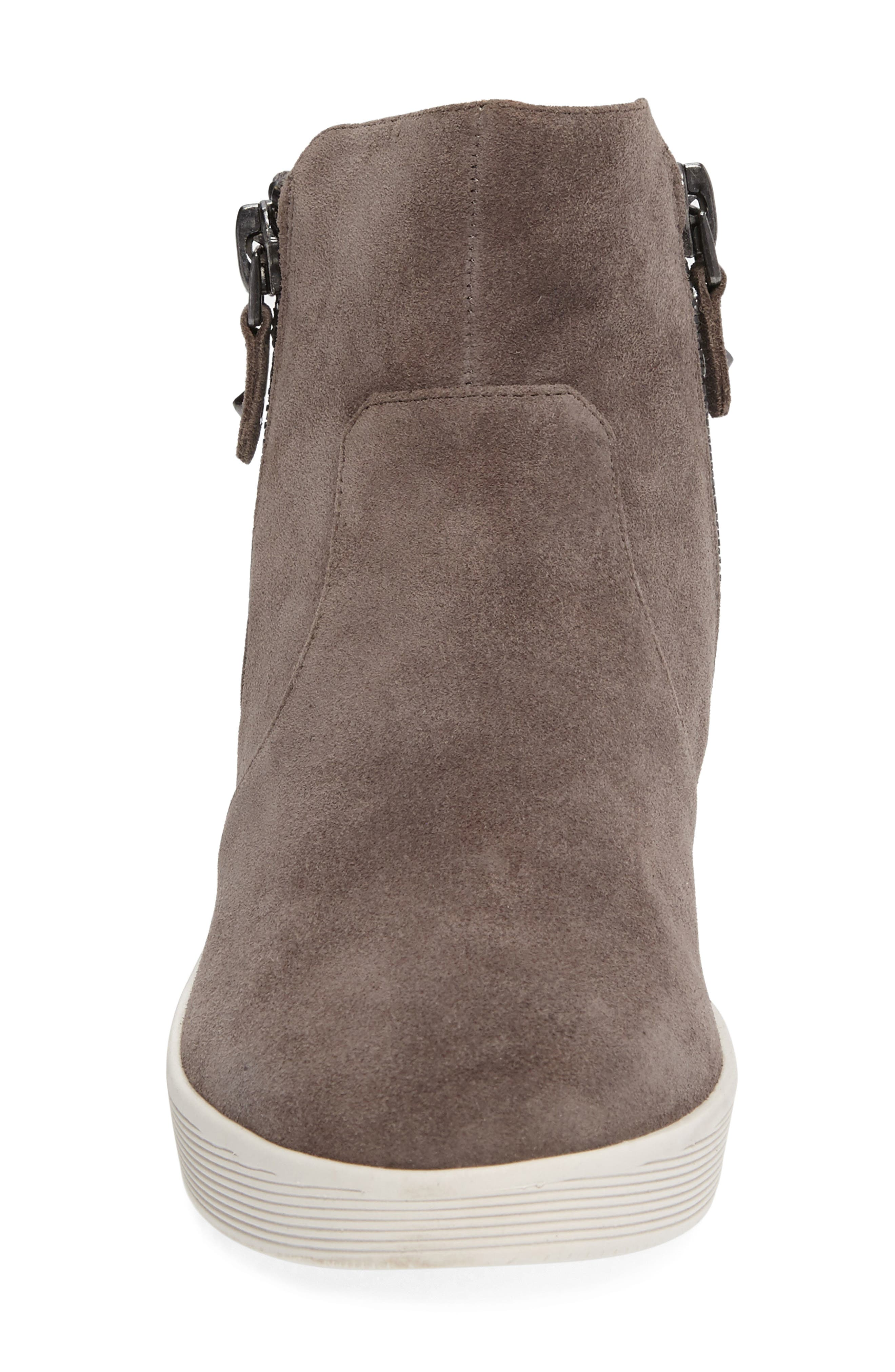 GENTLE SOULS BY KENNETH COLE, 'Harper' Sneaker Bootie, Alternate thumbnail 3, color, GREY LEATHER