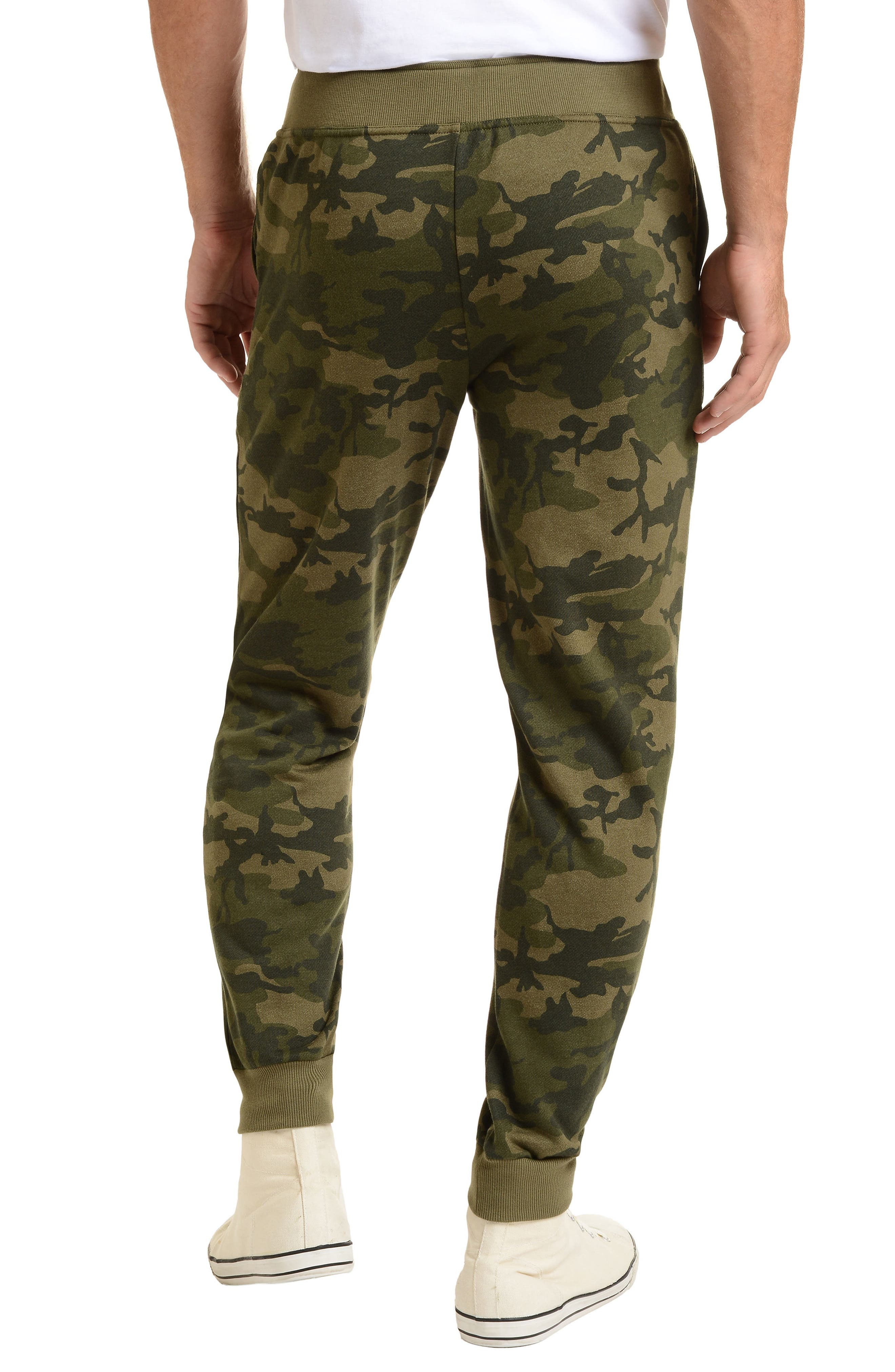 2(X)IST, Terry Jogger Sweatpants, Alternate thumbnail 2, color, OLIVE CAMO