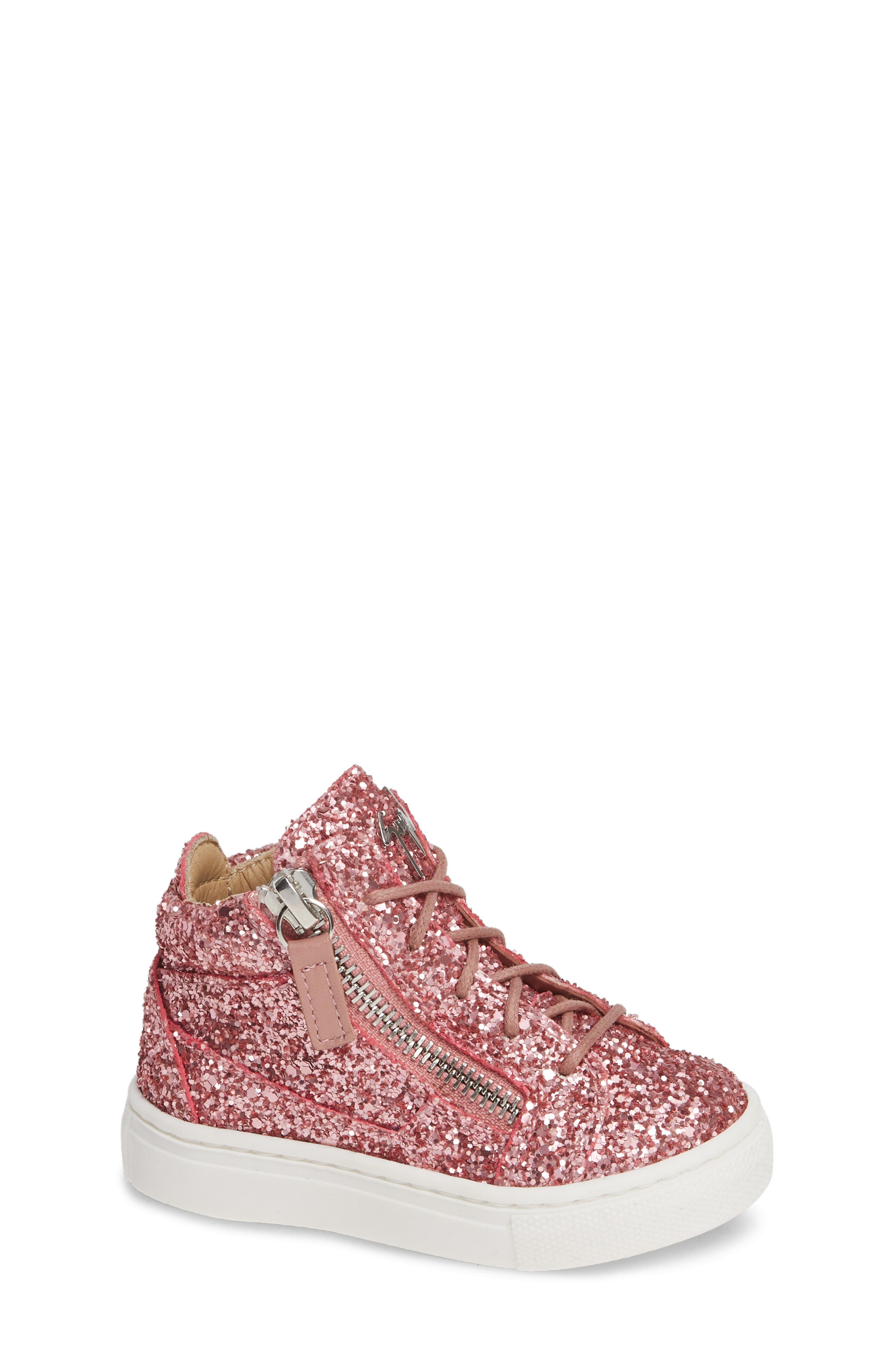 GIUSEPPE ZANOTTI, Natalie High Top Sneaker, Main thumbnail 1, color, LIPGLOSS