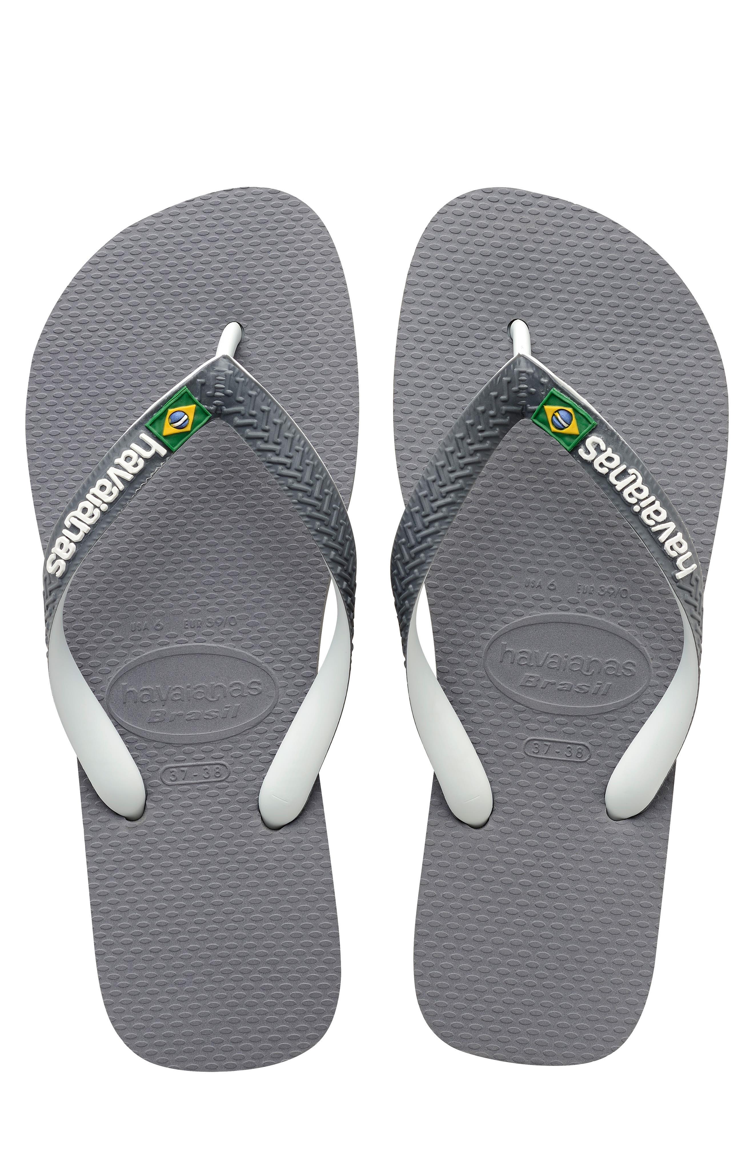 HAVAIANAS, Brazil Mix Flip Flop, Main thumbnail 1, color, GREY