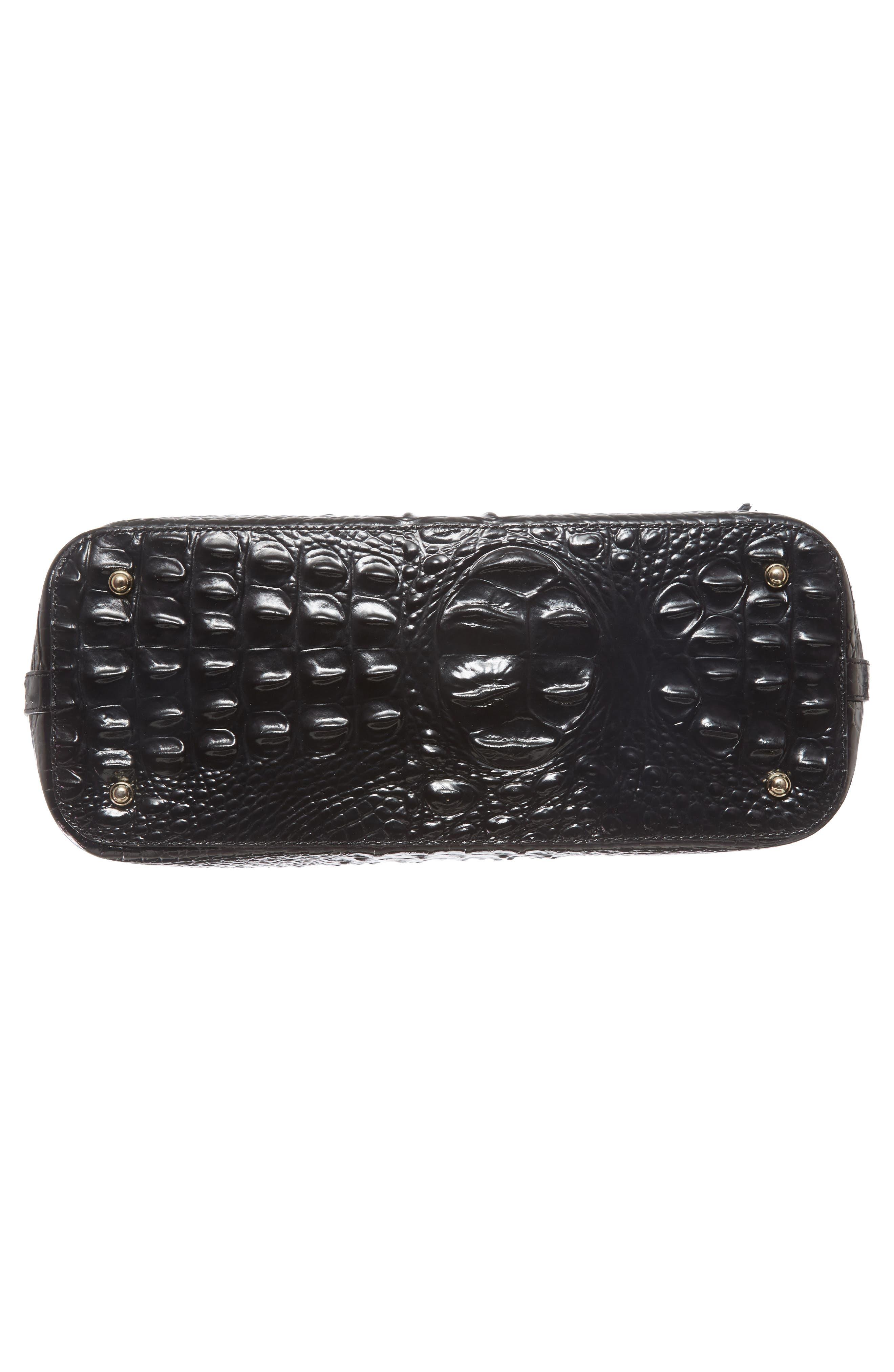 BRAHMIN, 'Medium Asher' Leather Tote, Alternate thumbnail 7, color, BLACK