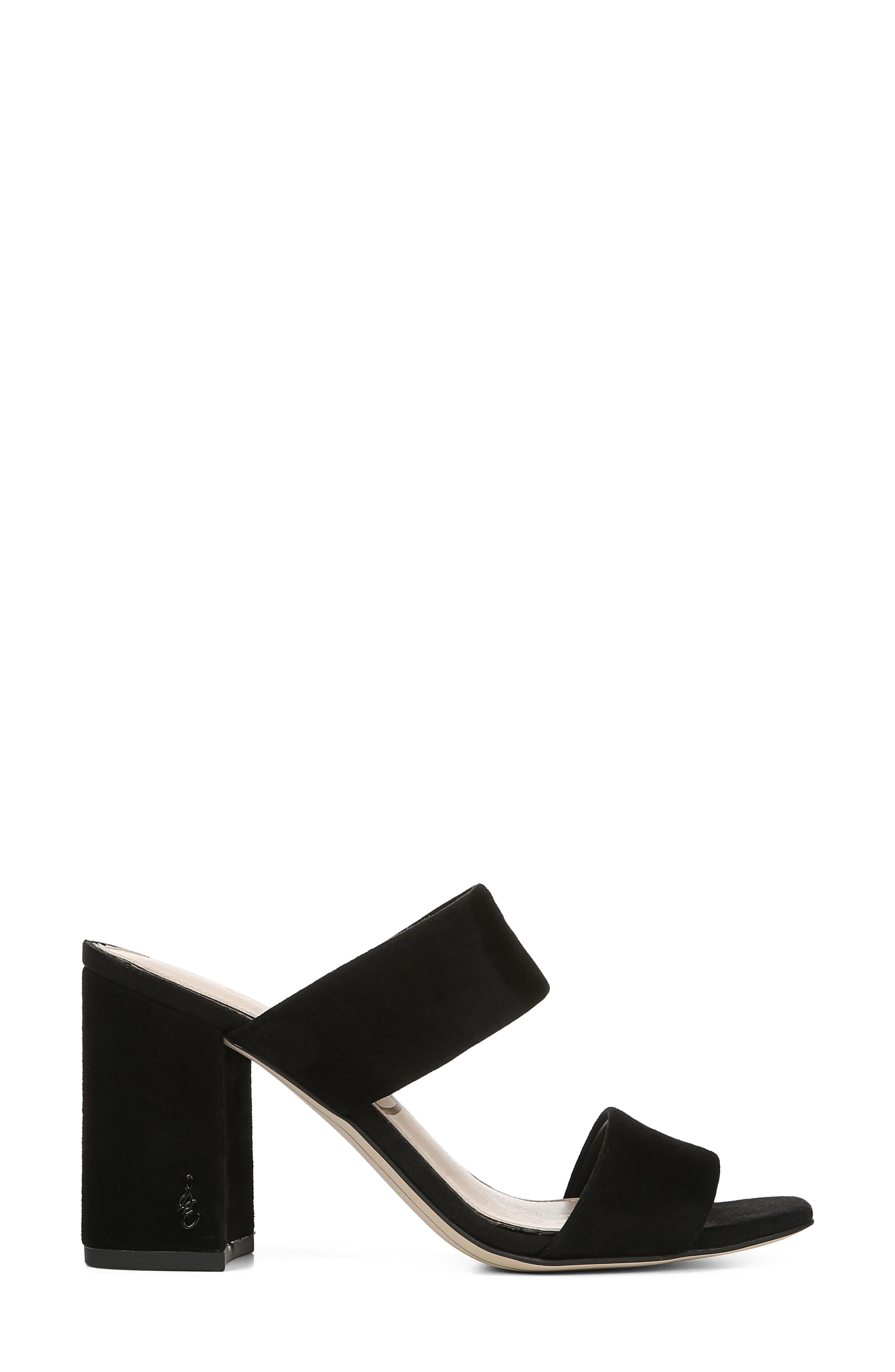 SAM EDELMAN, Delaney Sandal, Alternate thumbnail 3, color, BLACK SUEDE