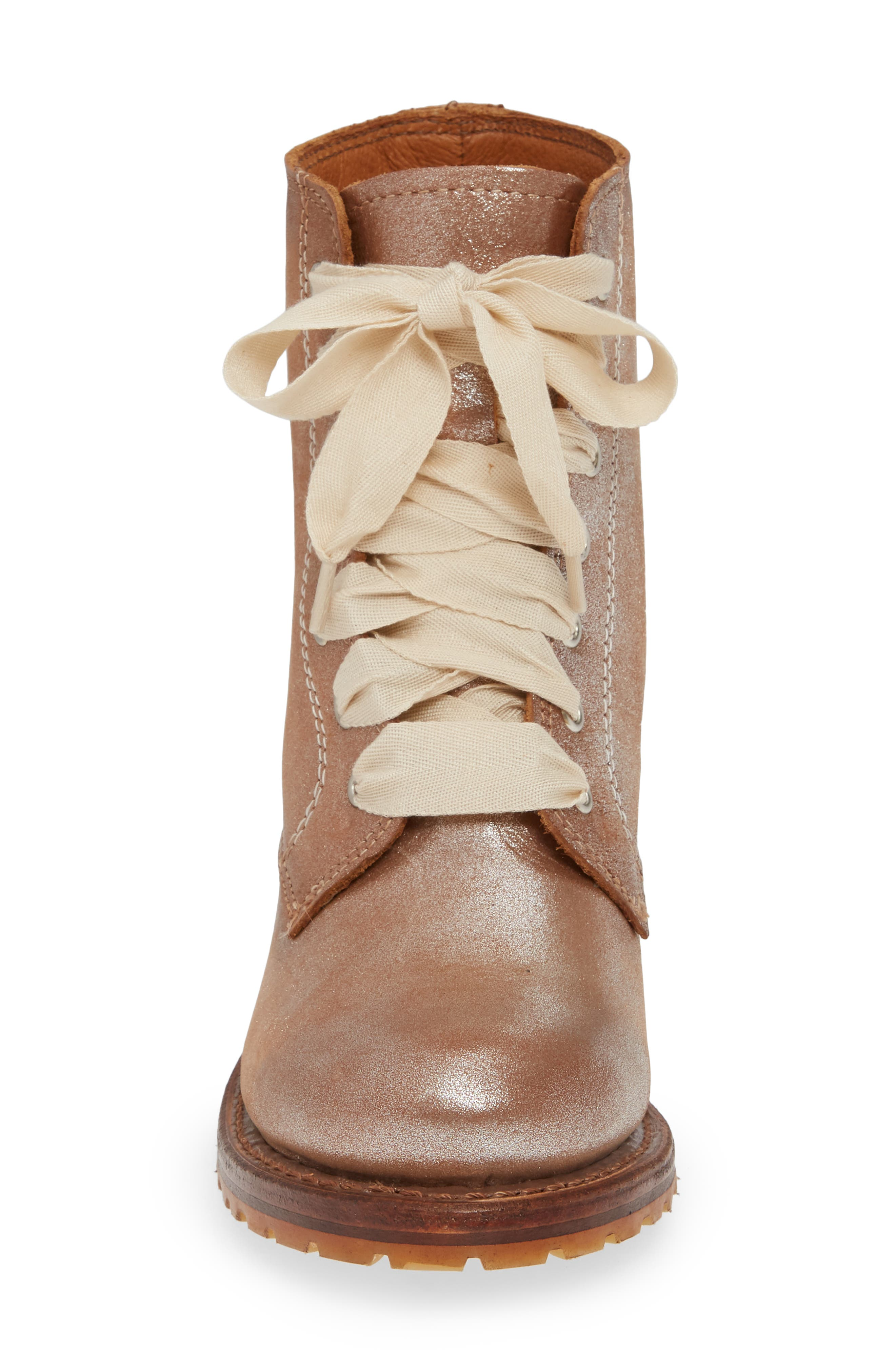 FRYE, 'Sabrina' Boot, Alternate thumbnail 4, color, SILVER LEATHER