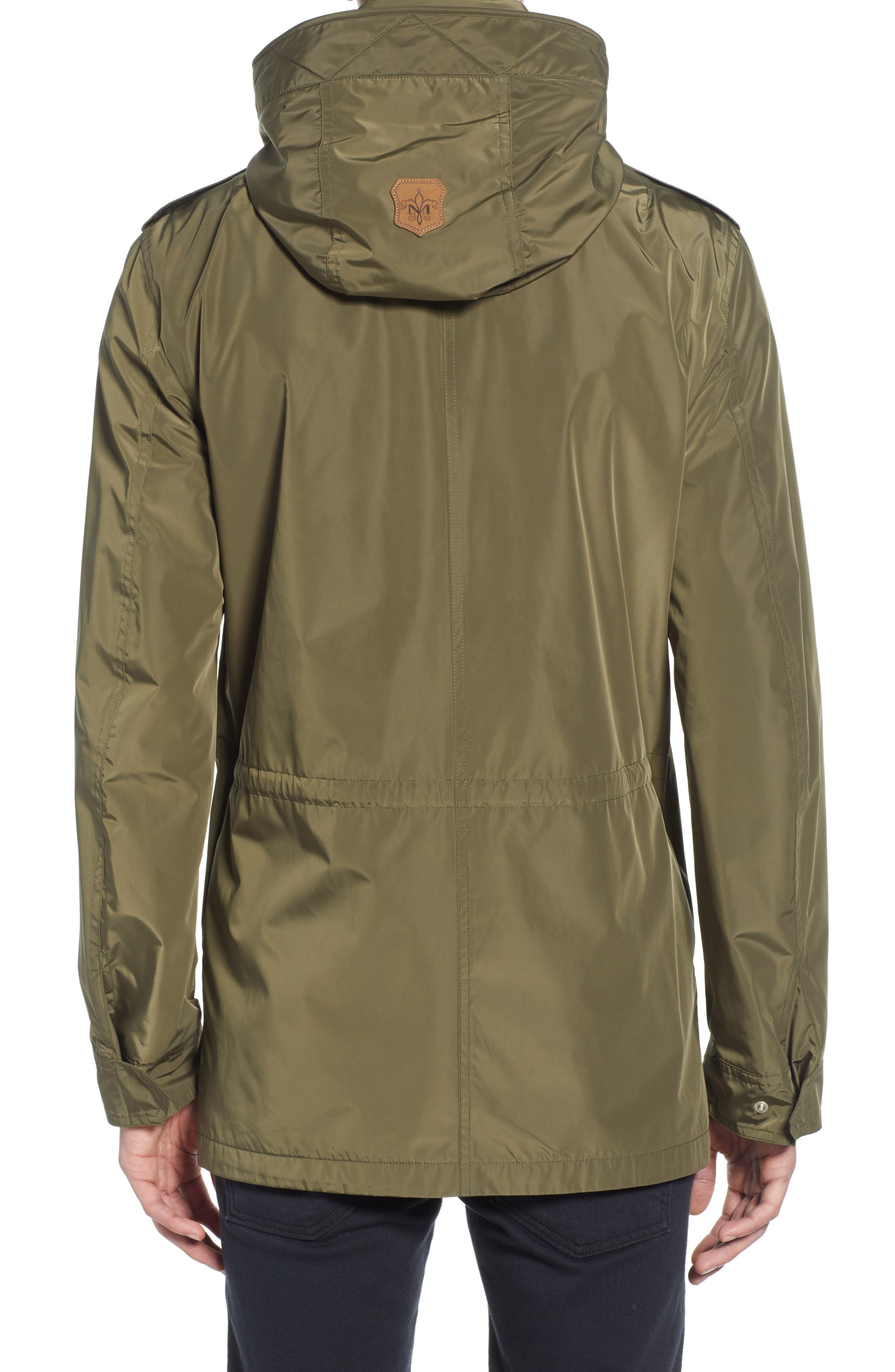 MACKAGE, Mack Water Repellent Lined Raincoat, Alternate thumbnail 2, color, ARMY
