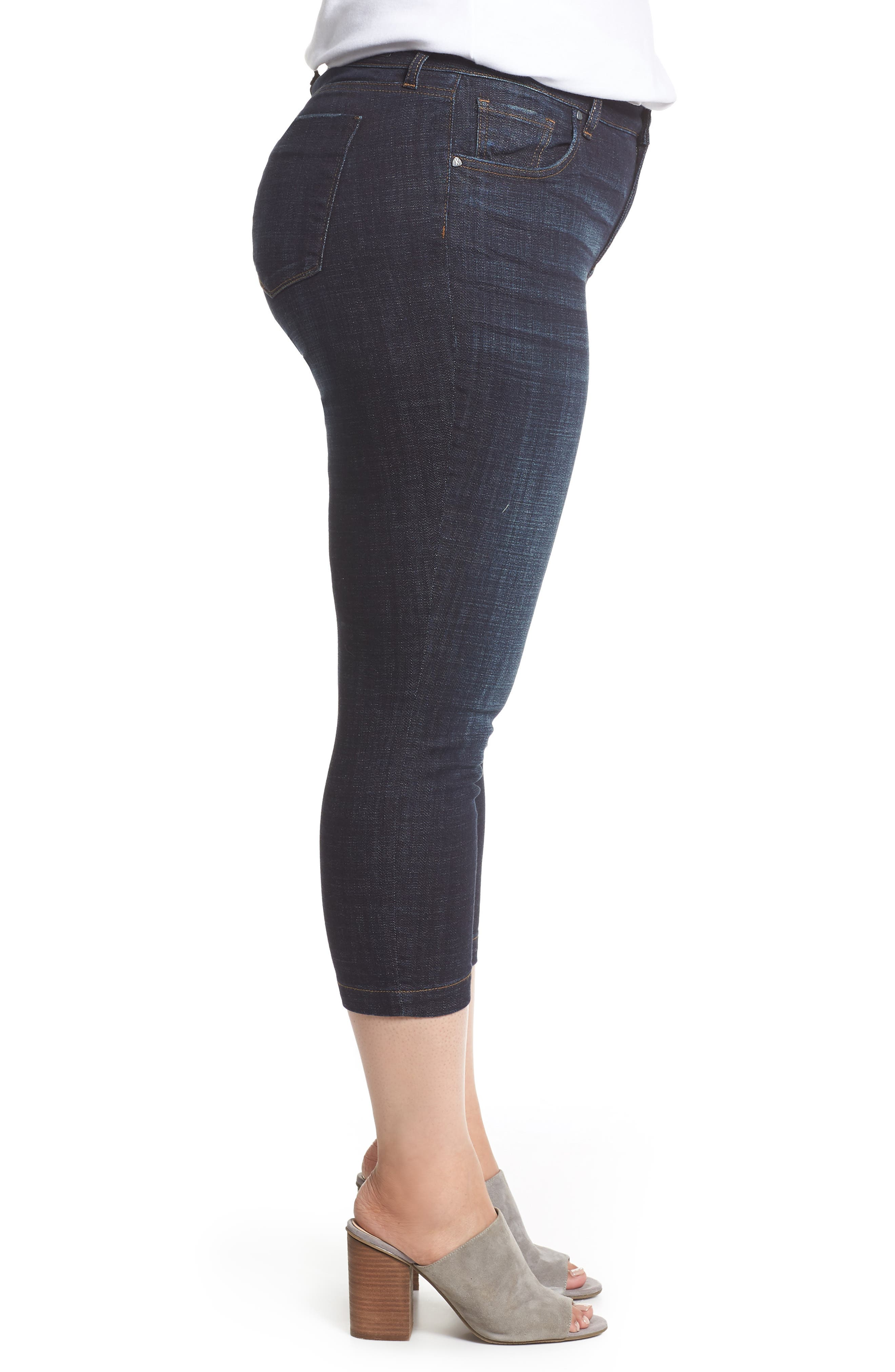 KUT FROM THE KLOTH, Lauren Crop Jeans, Alternate thumbnail 4, color, ACKNOWLEDGING