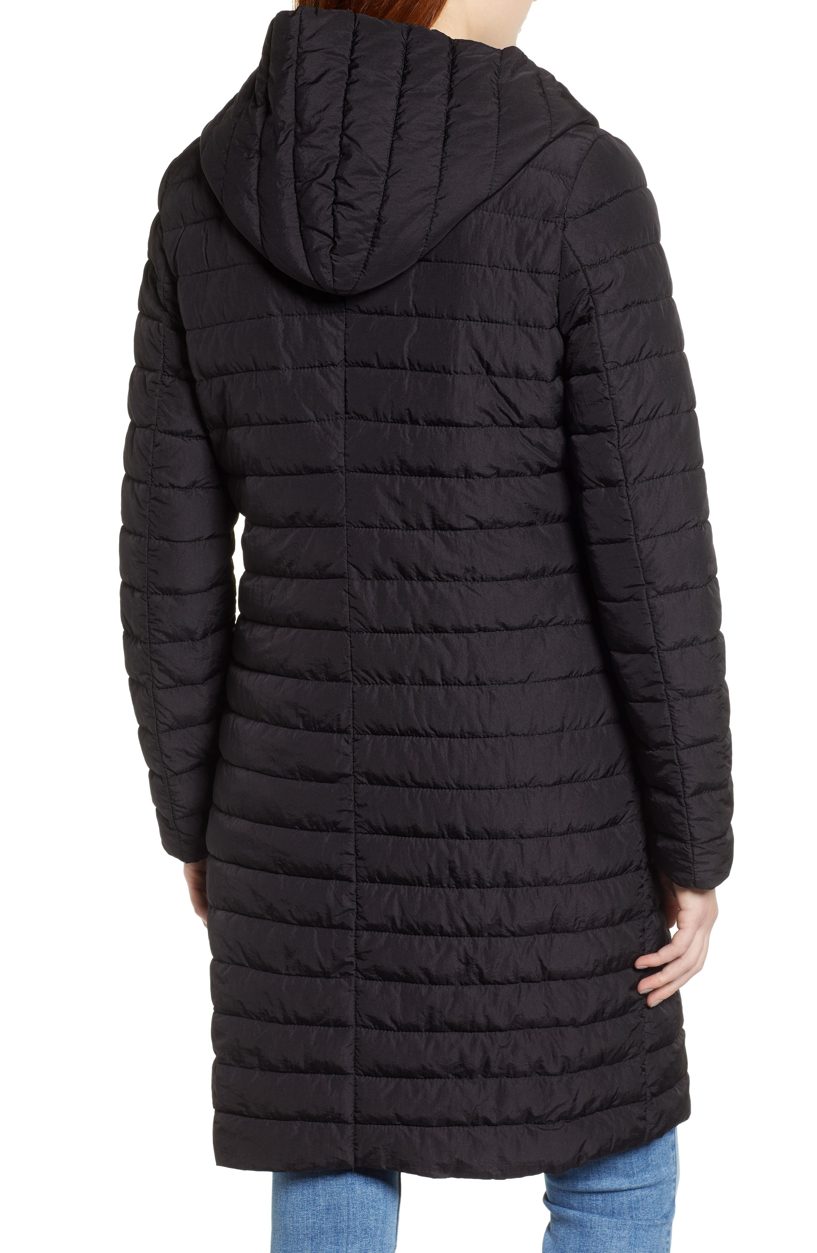 HALOGEN<SUP>®</SUP>, Hooded Puffer Jacket, Alternate thumbnail 2, color, 001