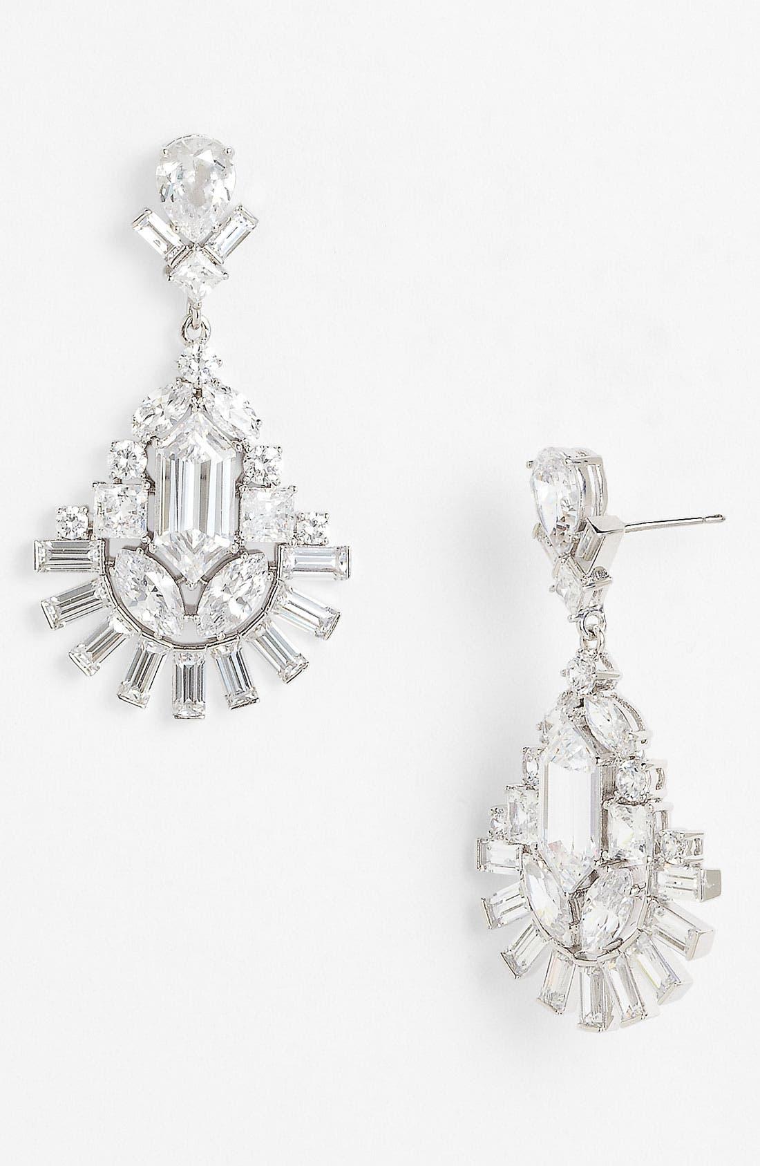 NADRI 'Art Deco' Drop Earrings, Main, color, 040