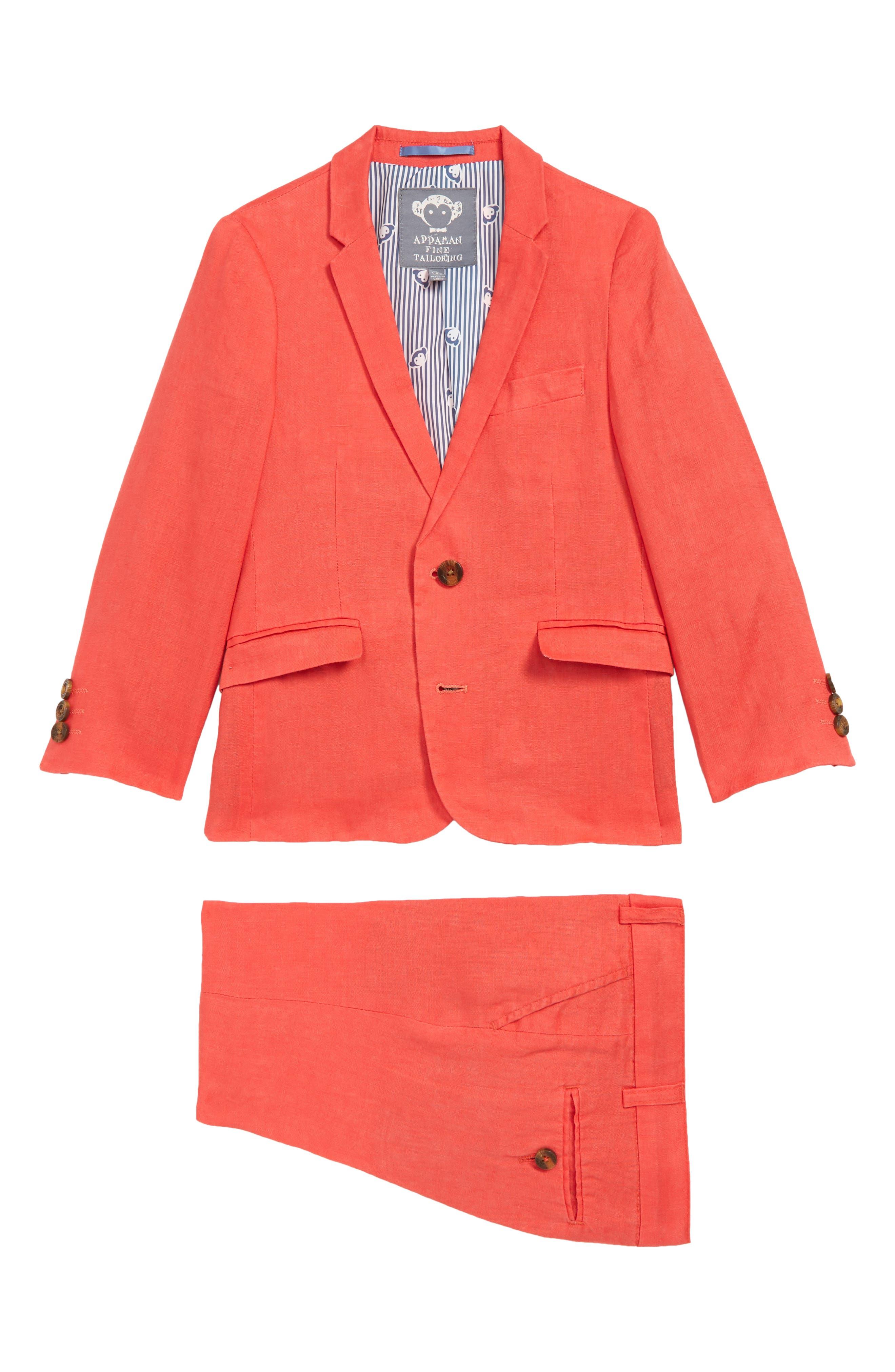 APPAMAN Mod Suit, Main, color, POPPY