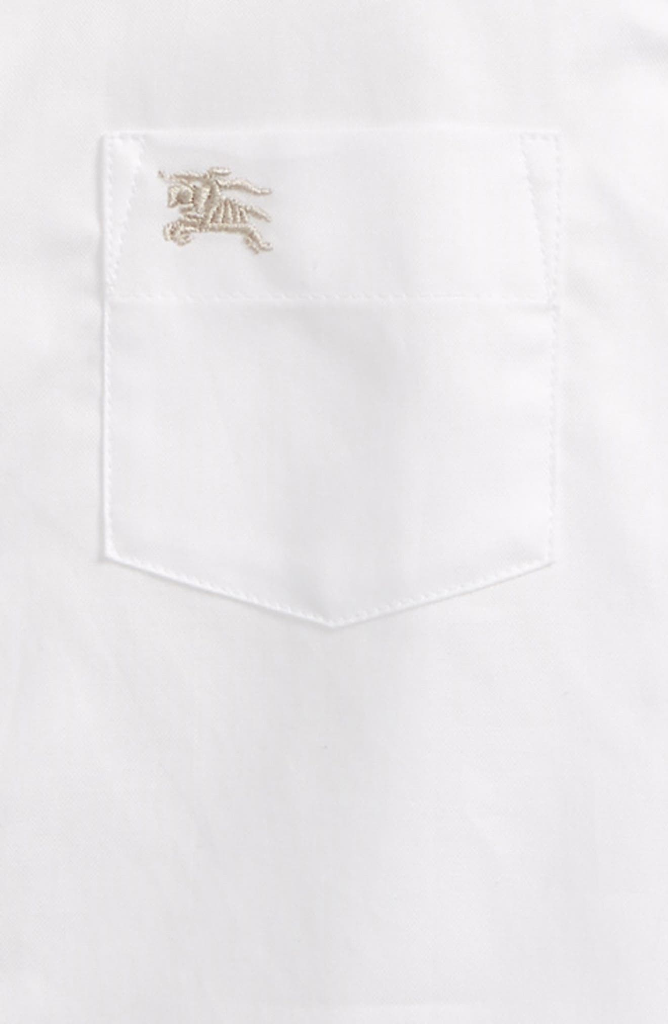 BURBERRY, Fred Woven Shirt, Alternate thumbnail 2, color, 100
