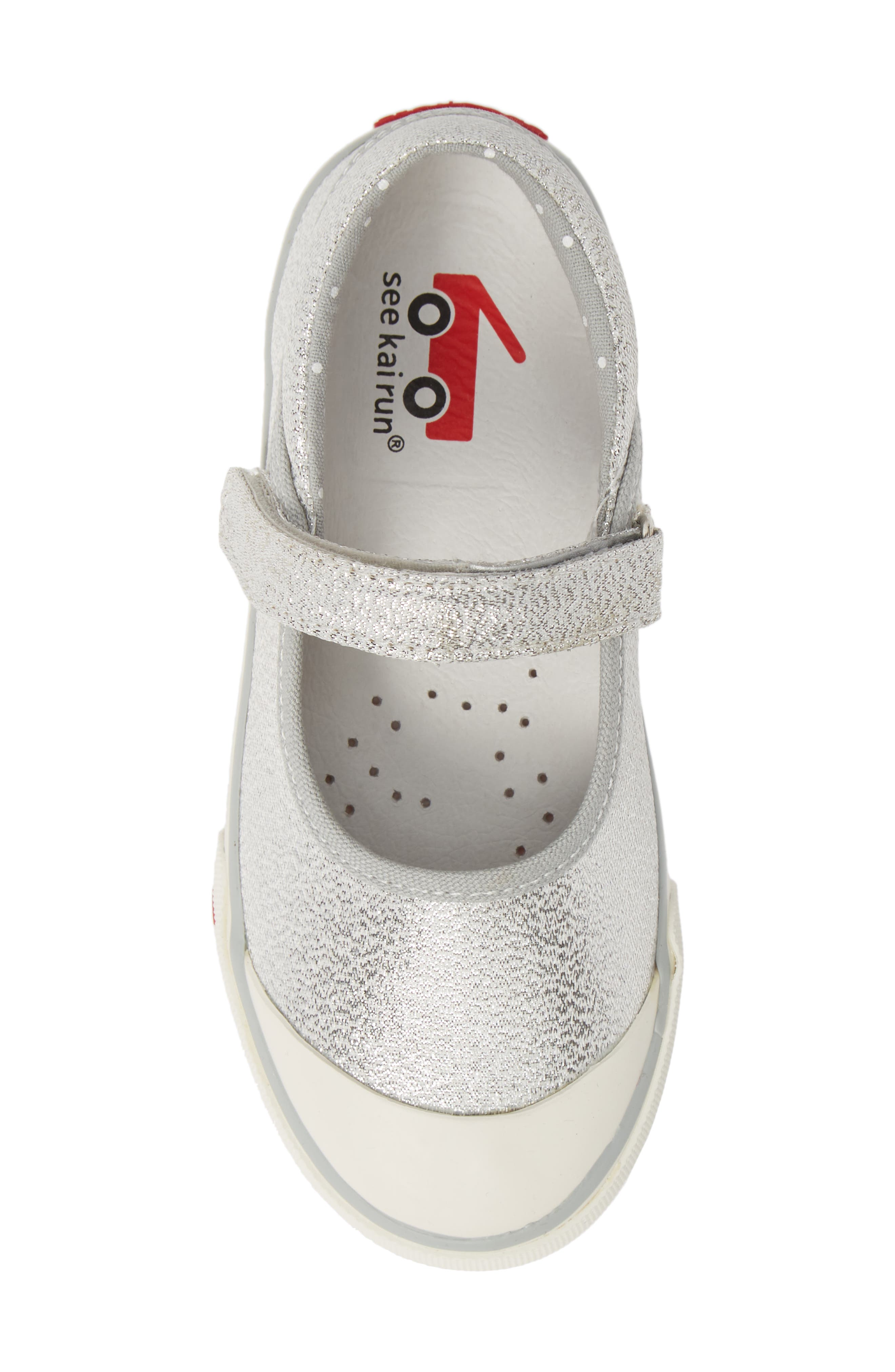 SEE KAI RUN, 'Marie' Mary Jane Sneaker, Alternate thumbnail 5, color, SILVER DOTS