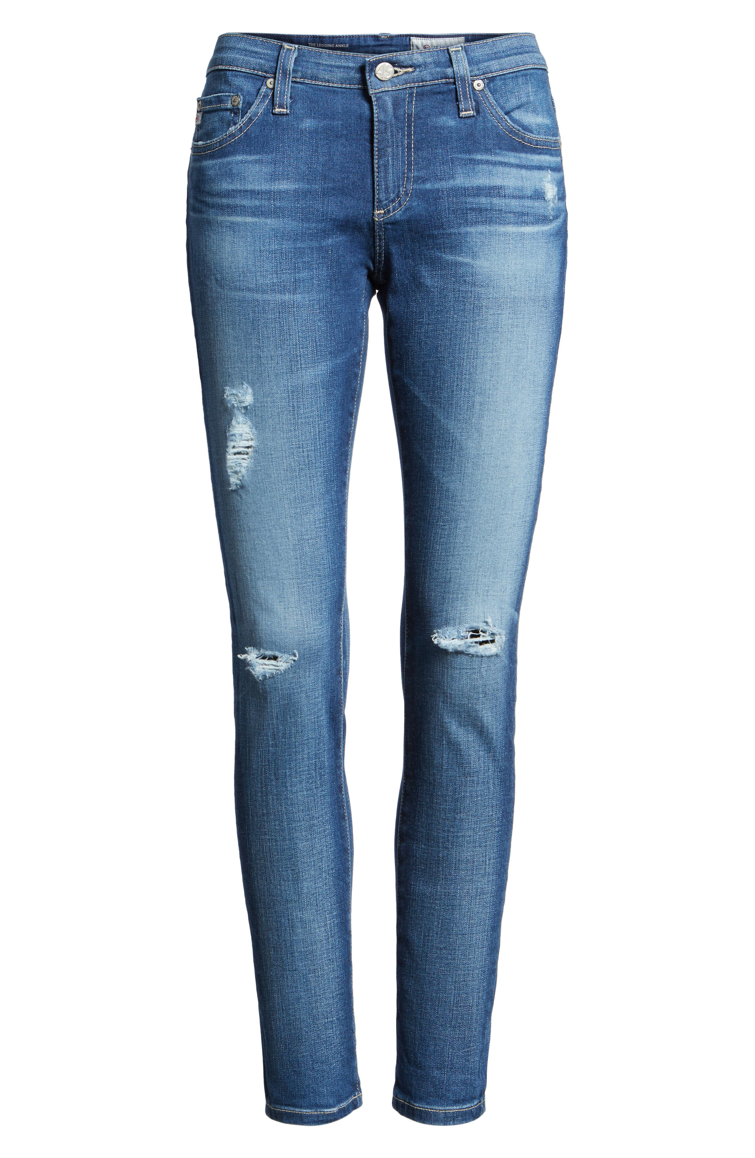 AG, The Legging Ankle Jeans, Alternate thumbnail 6, color, 11 YEAR SWAP MEET