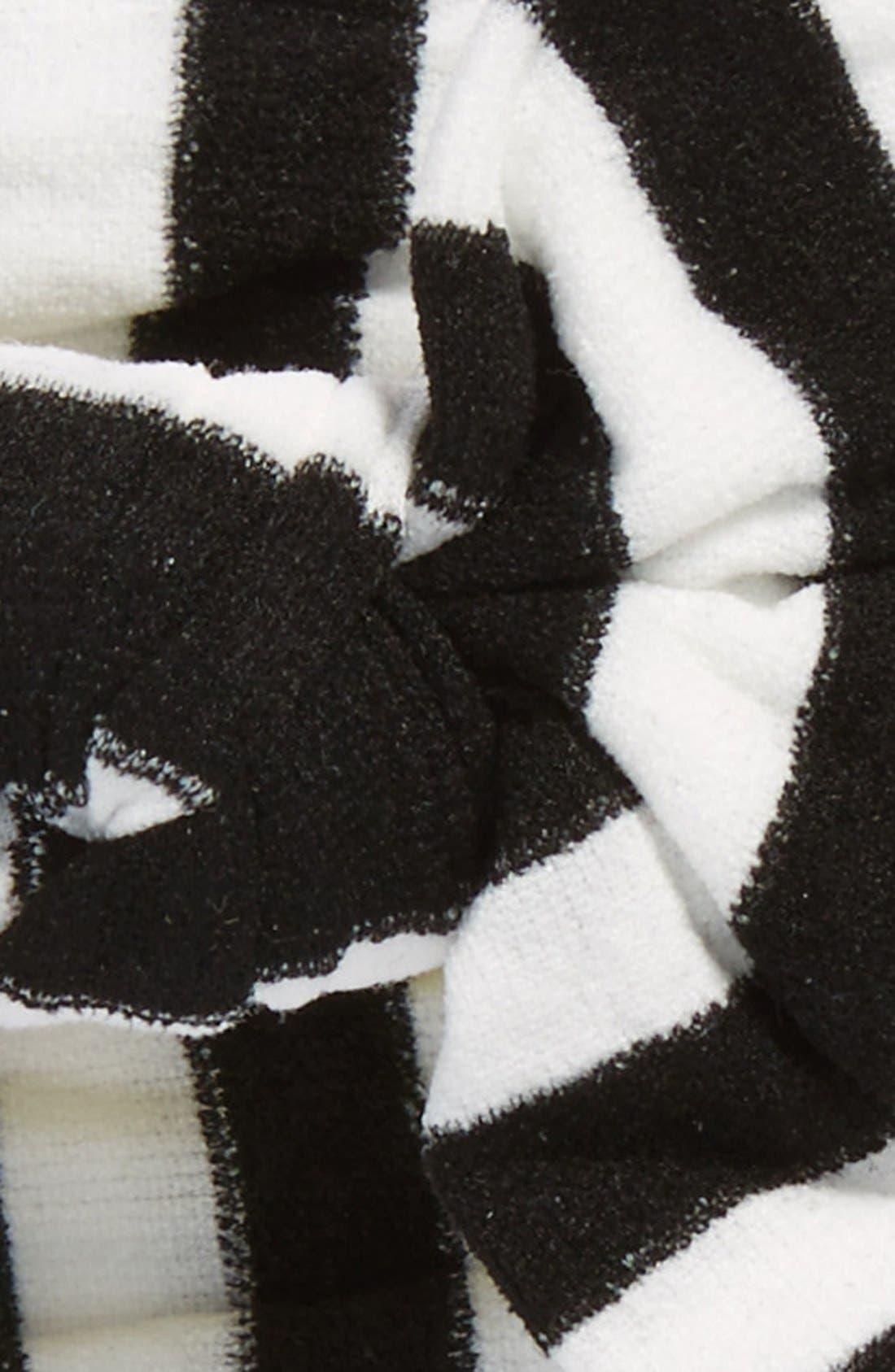 BABY BLING, Stripe Headband, Alternate thumbnail 2, color, BLACK