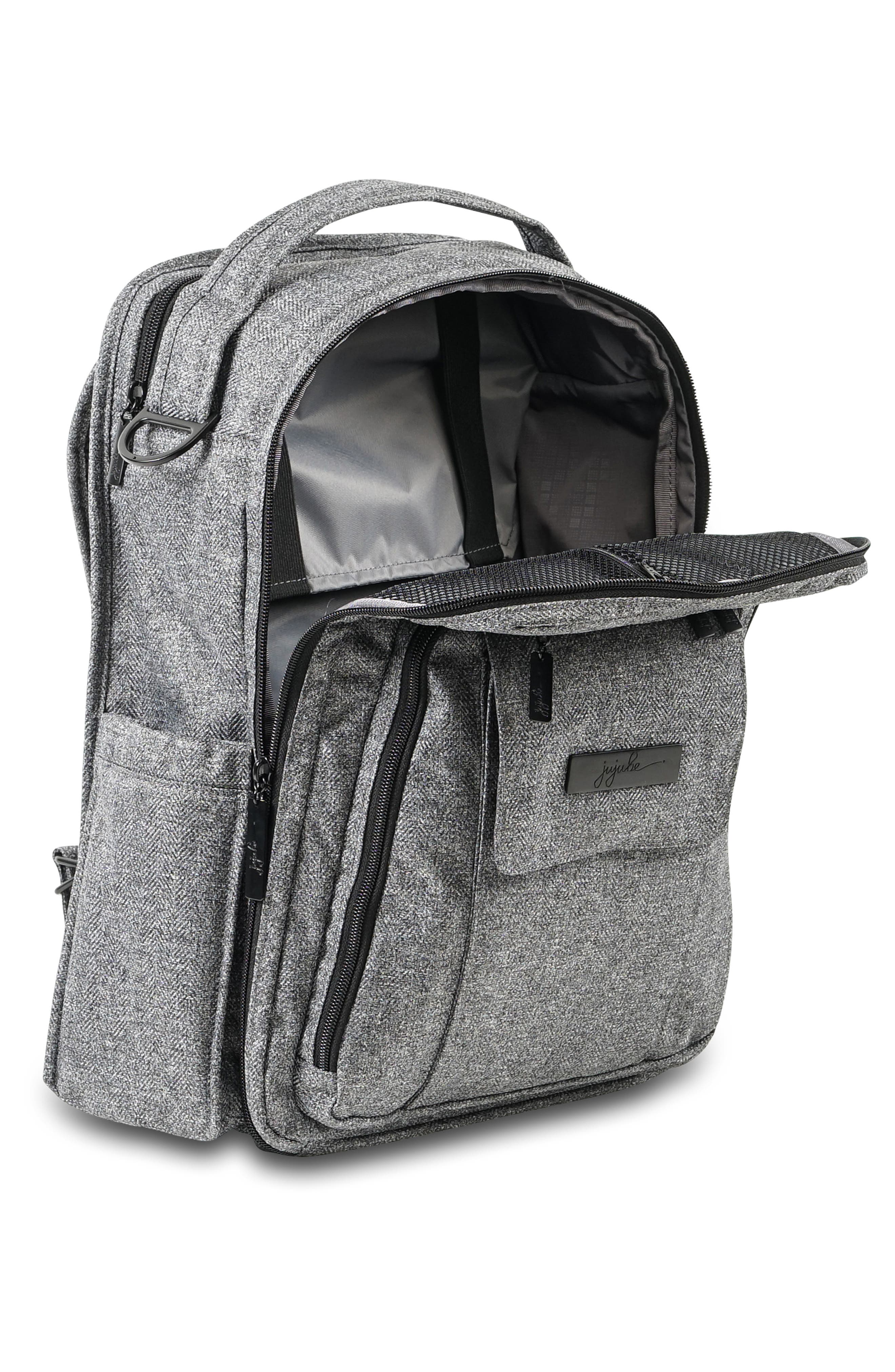 JU-JU-BE, 'Be Right Back - Onyx Collection' Diaper Backpack, Alternate thumbnail 3, color, GRAY MATTER