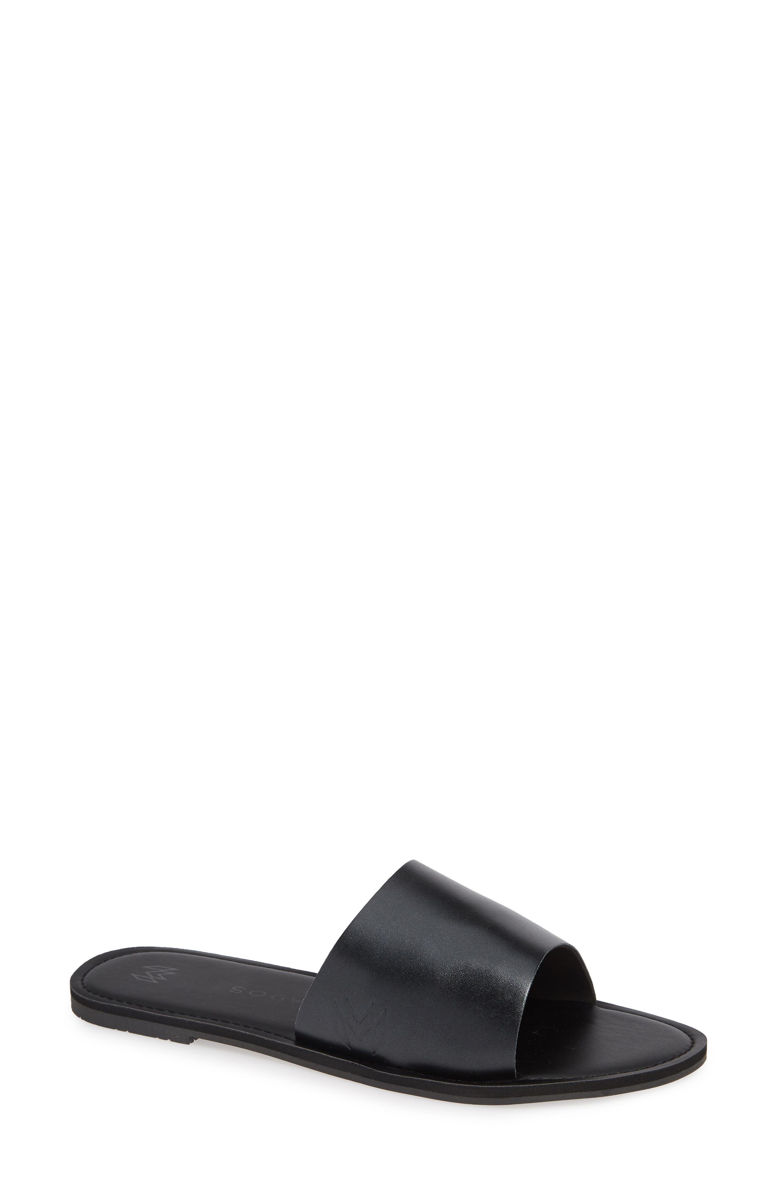 MALVADOS Icon Taylor Noir Slide Sandal, Main, color, LIQUORISH