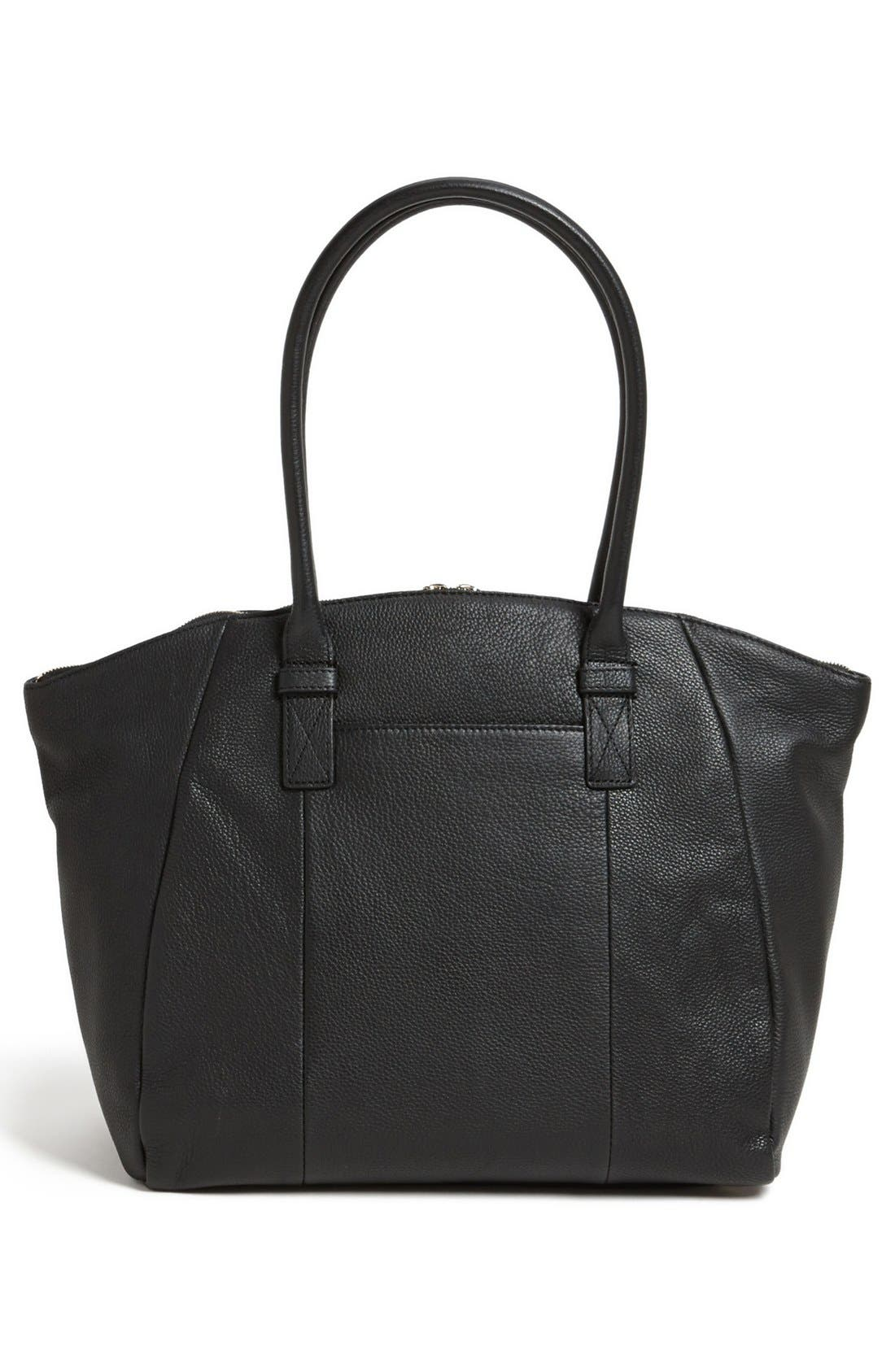 VINCE CAMUTO, 'Jace' Leather Tote, Alternate thumbnail 3, color, 002