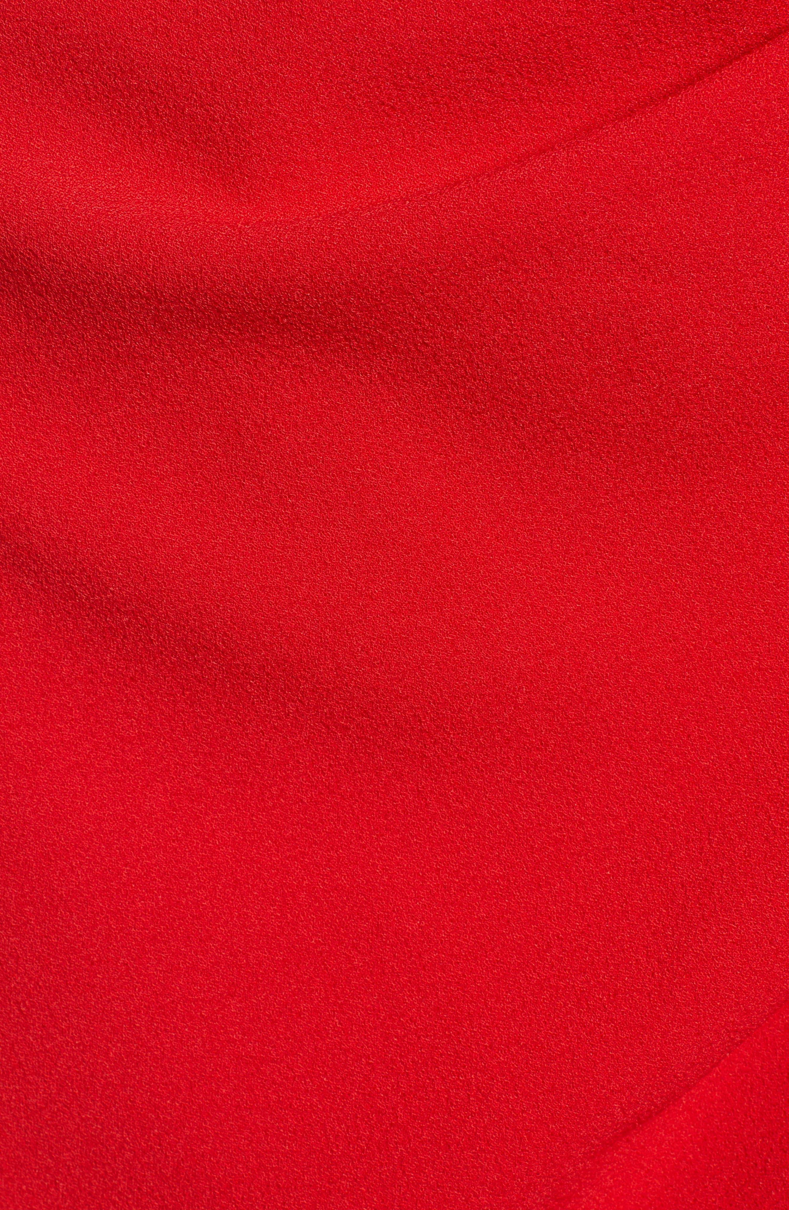 SPEECHLESS, Cinch Sleeve Faux Wrap Dress, Alternate thumbnail 6, color, 600