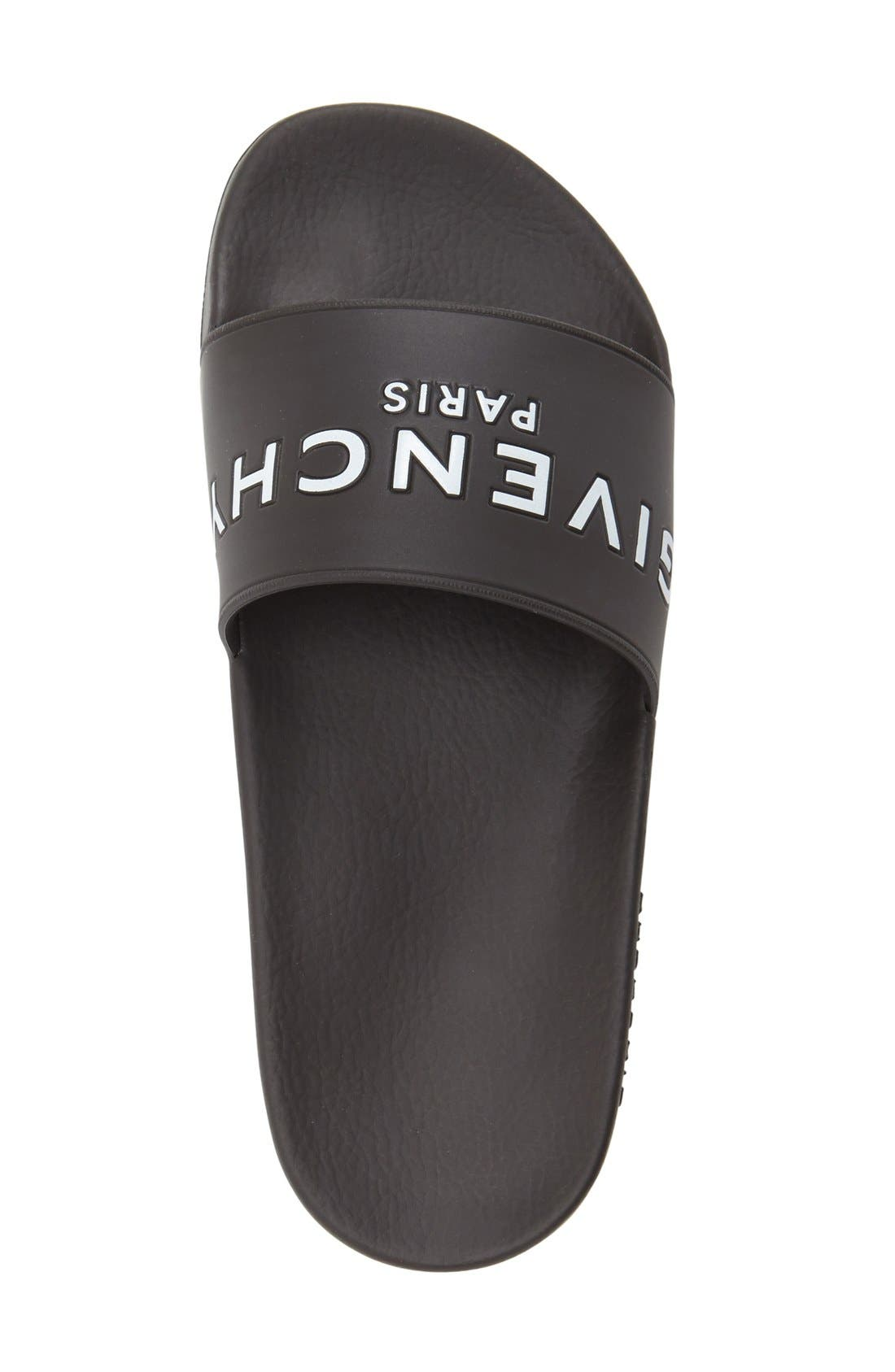 GIVENCHY, Logo Slide, Alternate thumbnail 3, color, BLACK