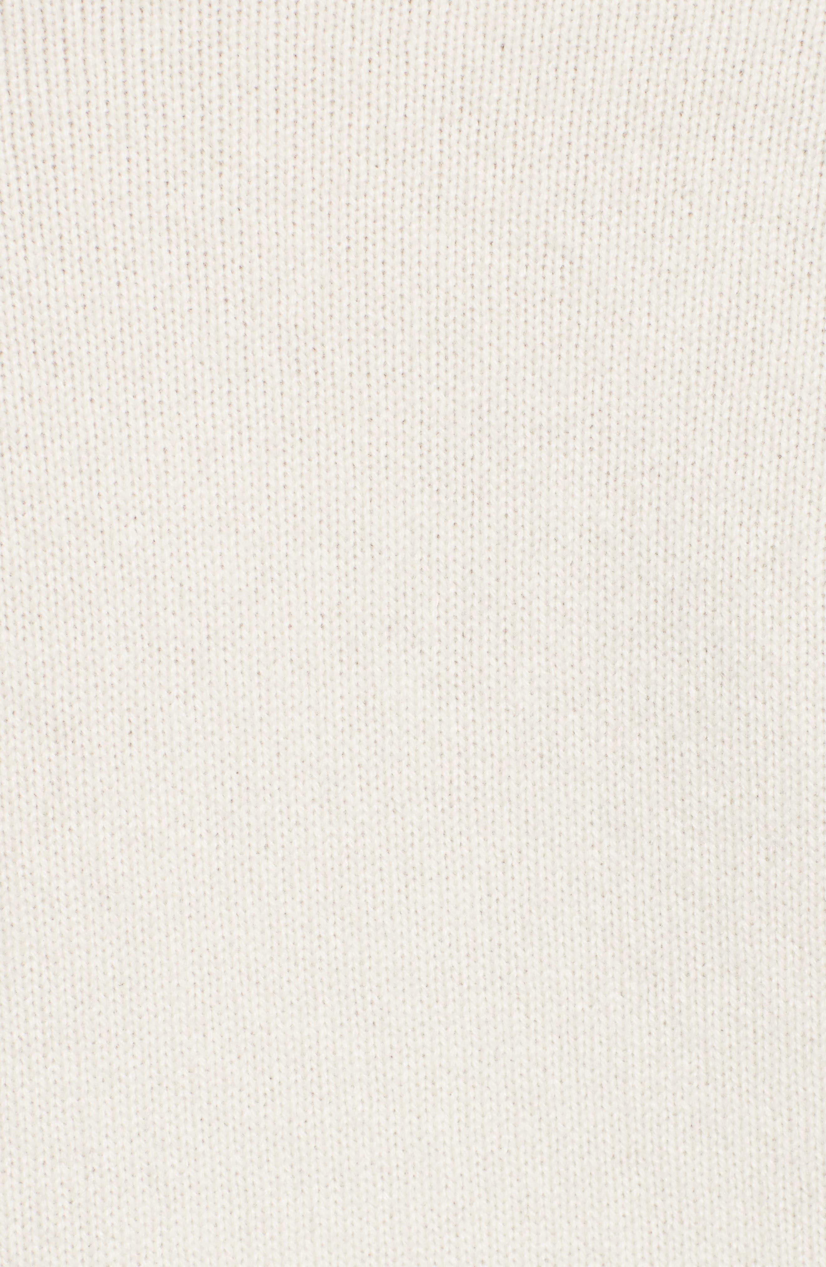 VICTORIA BECKHAM, Cashmere Turtleneck Sweater, Alternate thumbnail 5, color, VANILLA