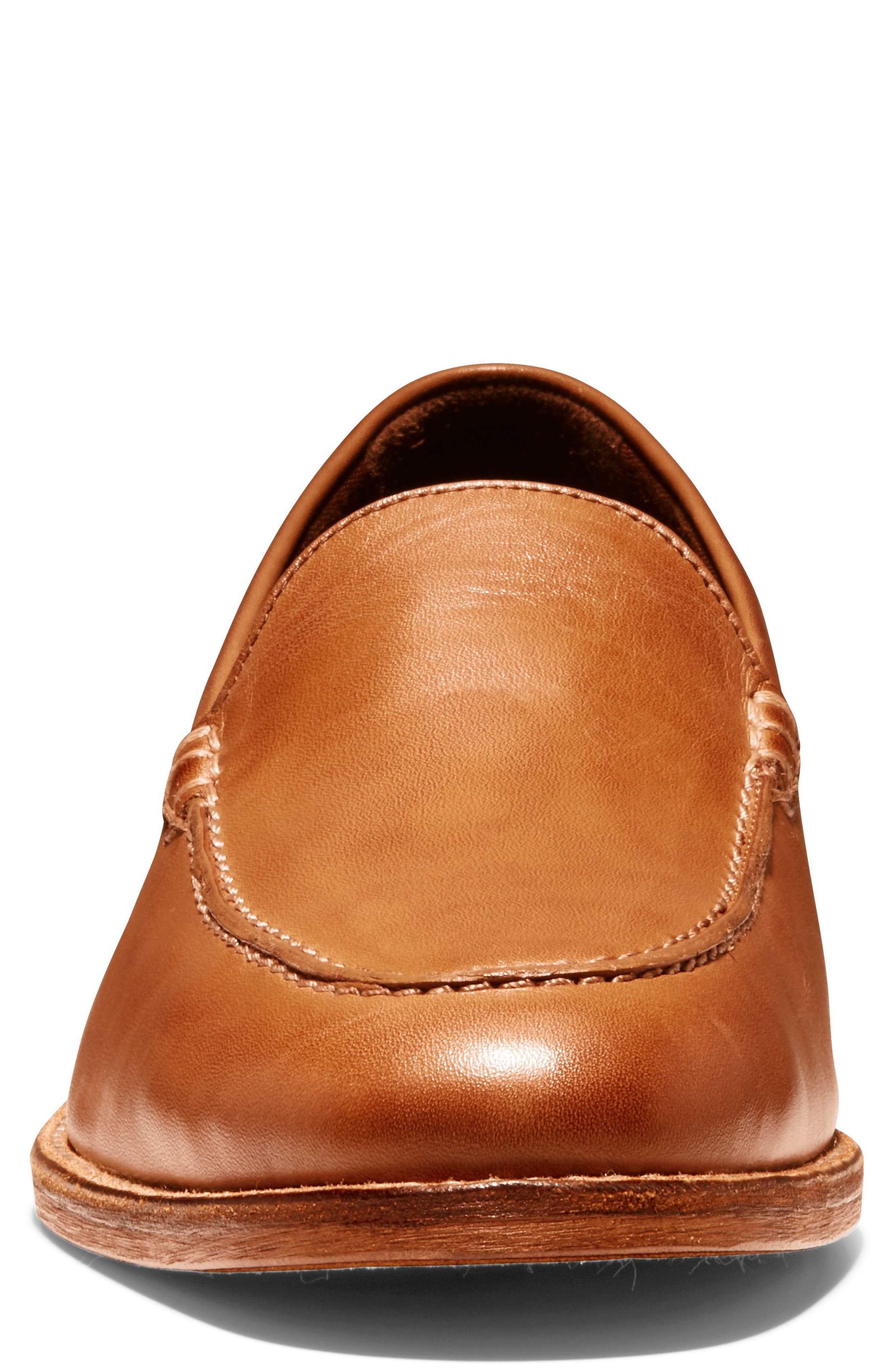 COLE HAAN, Feathercraft Grand Venetian Loafer, Alternate thumbnail 4, color, BRITISH TAN LEATHER