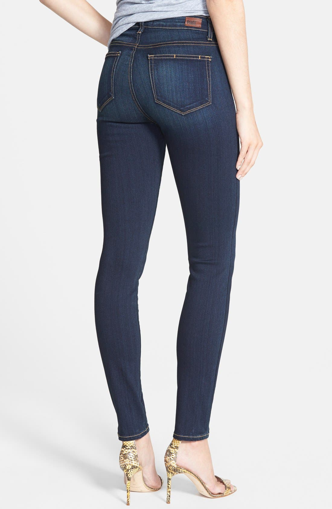 PAIGE, 'Transcend - Margot' High Rise Ultra Skinny Stretch Jeans, Alternate thumbnail 2, color, 400