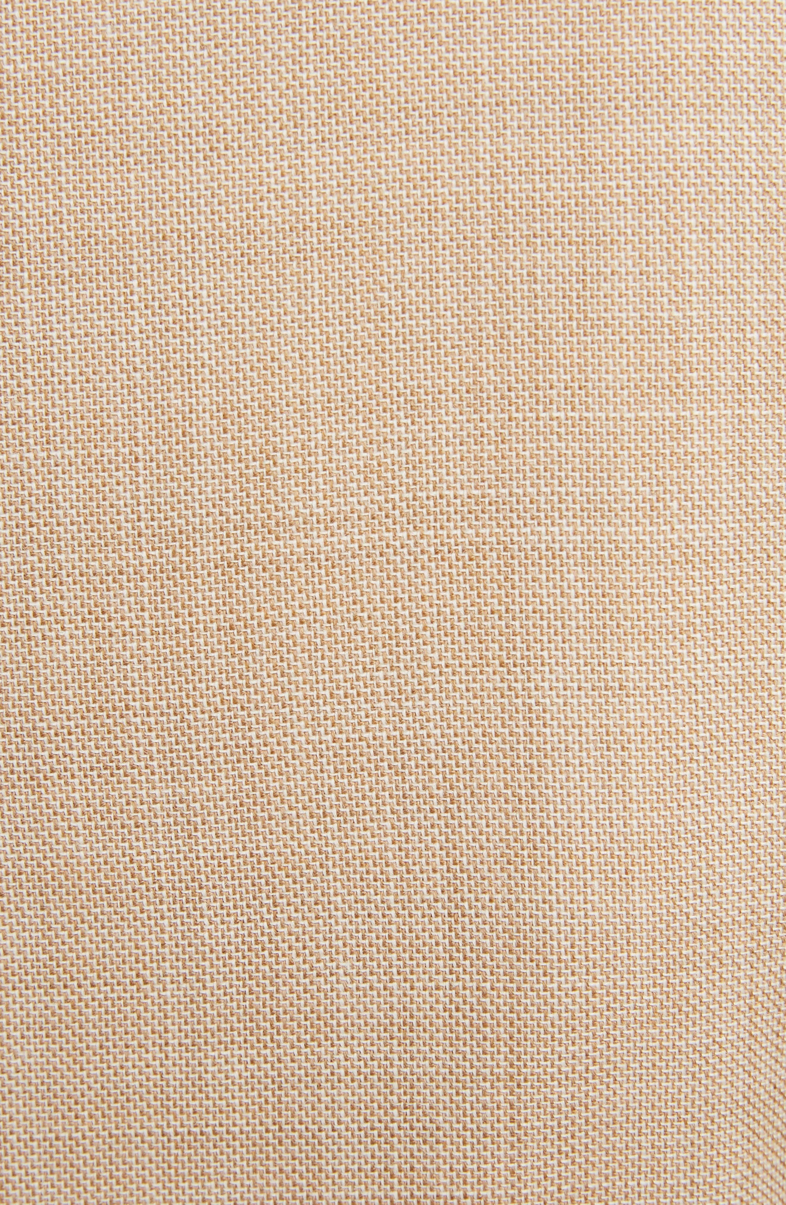 VICTORIA BECKHAM, Wool Jacket, Alternate thumbnail 5, color, LIGHT BEIGE-WHITE