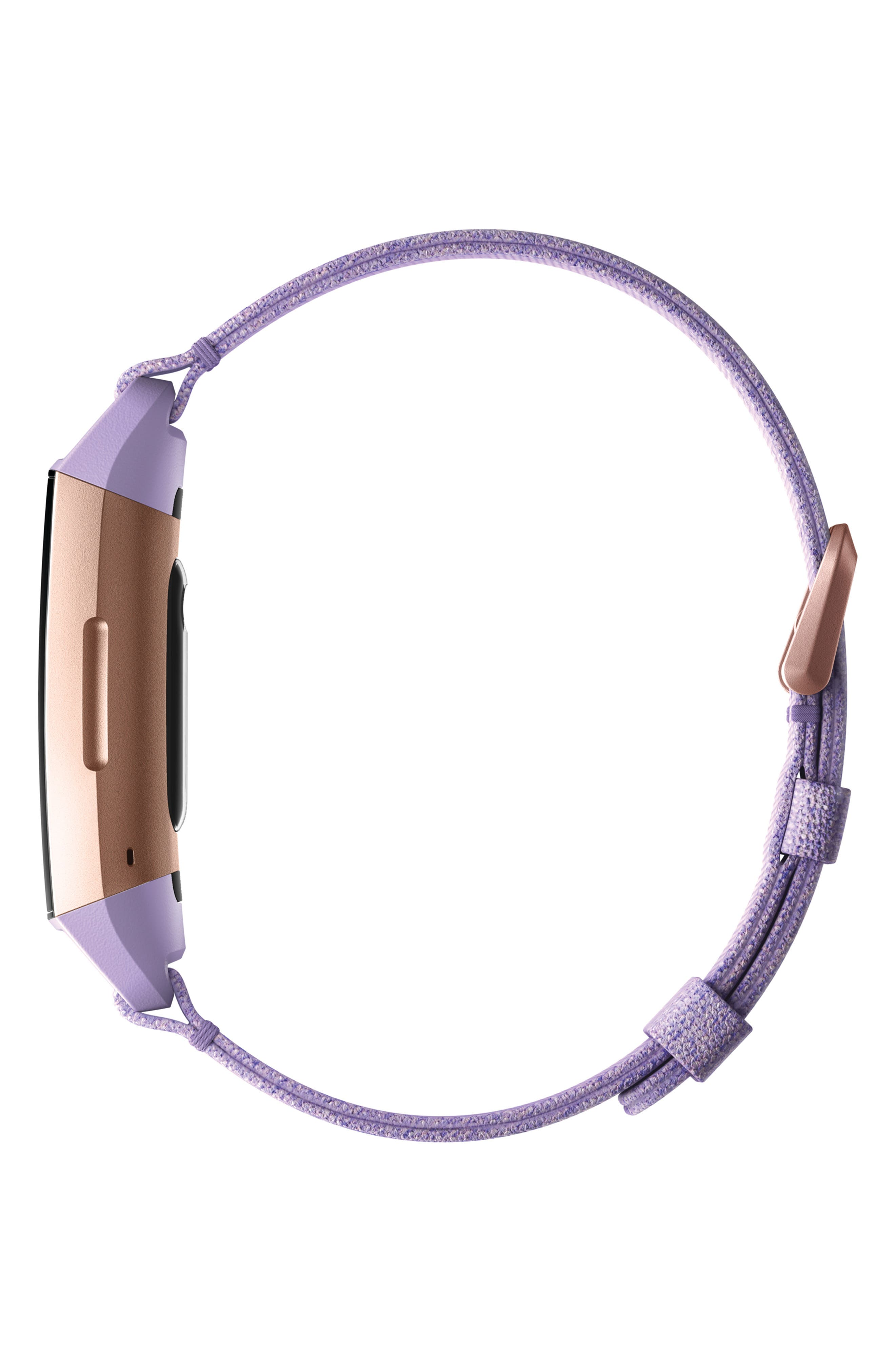 FITBIT, Charge 3 Special Edition Wireless Activity & Heart Rate Tracker, Alternate thumbnail 3, color, LAVENDER