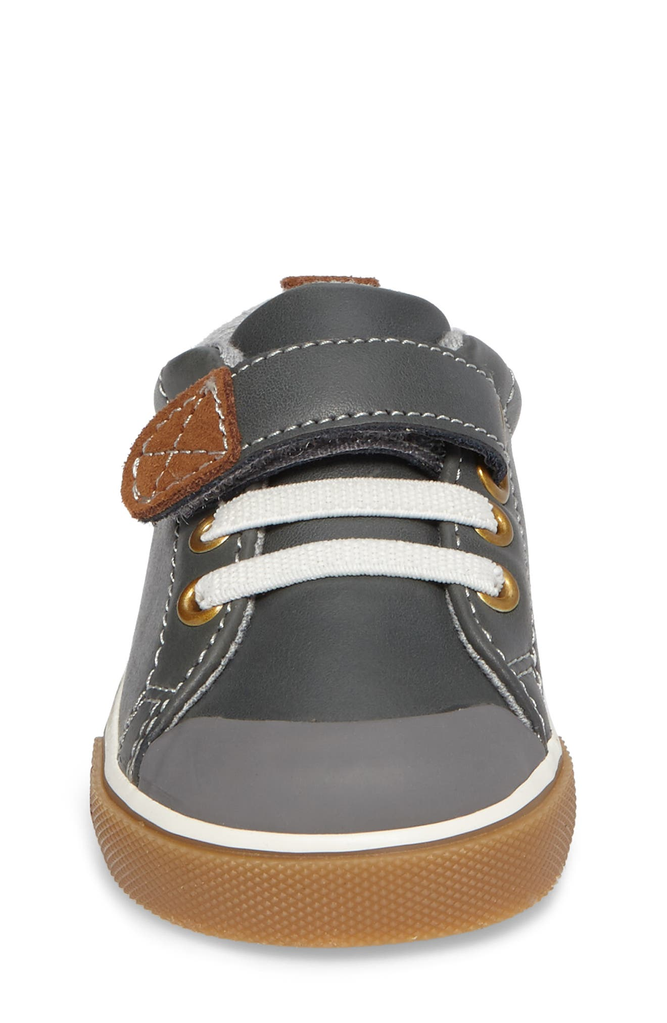 SEE KAI RUN, Stevie II Sneaker, Alternate thumbnail 4, color, GREY LEATHER